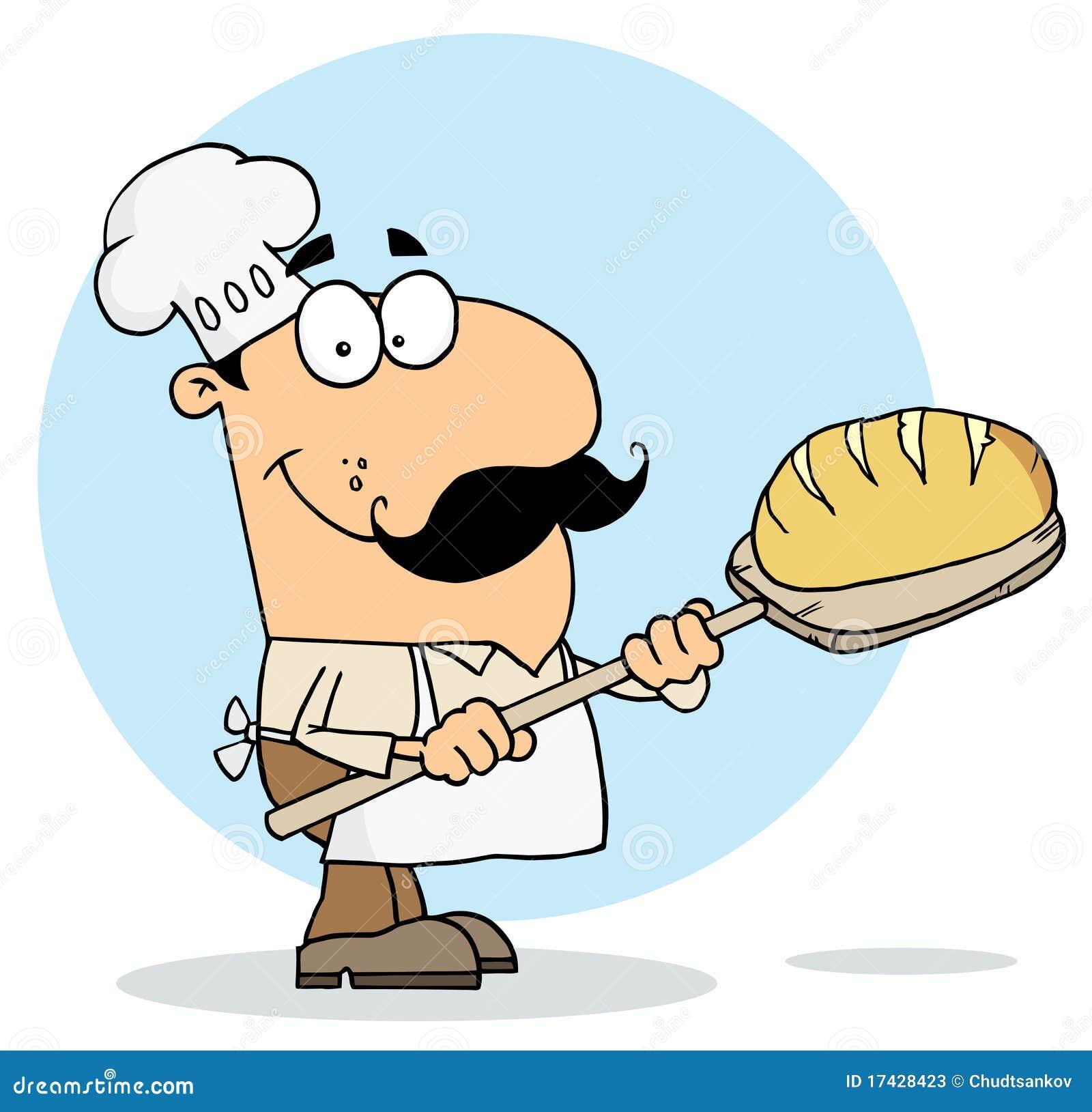Homme de générateur de pain de dessin animé