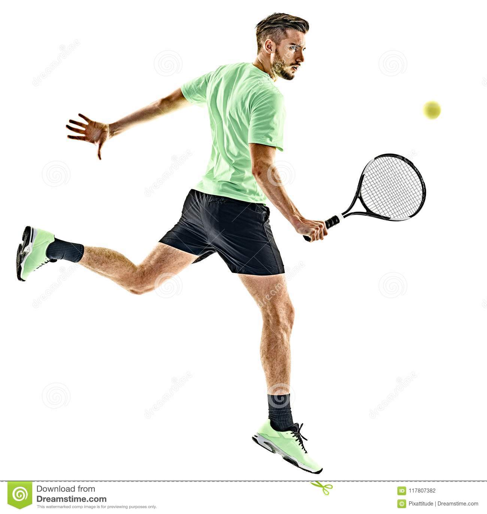 Homme de joueur de tennis d isolement