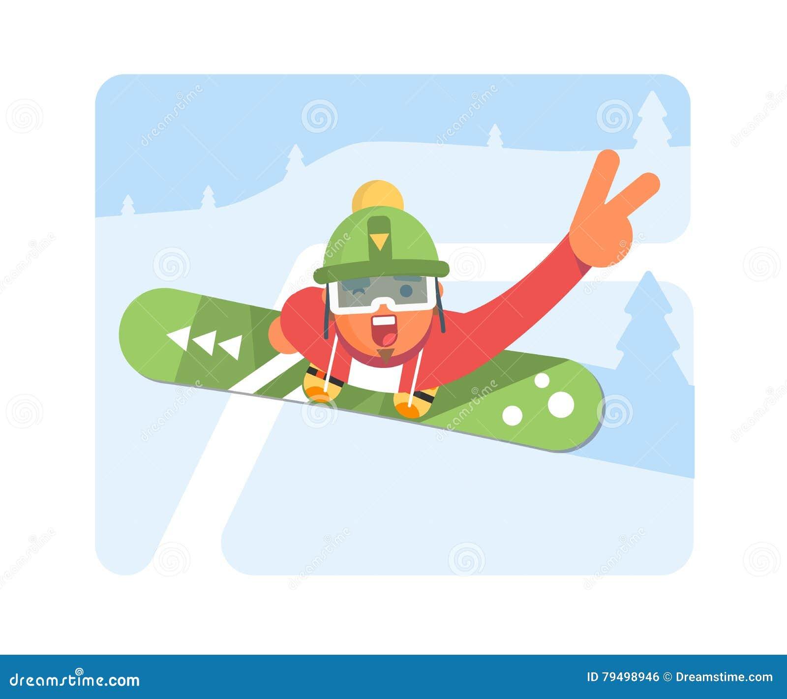 6668519a581 Homme de surfeur dans des vêtements de sport de ski d hiver avec le surf des