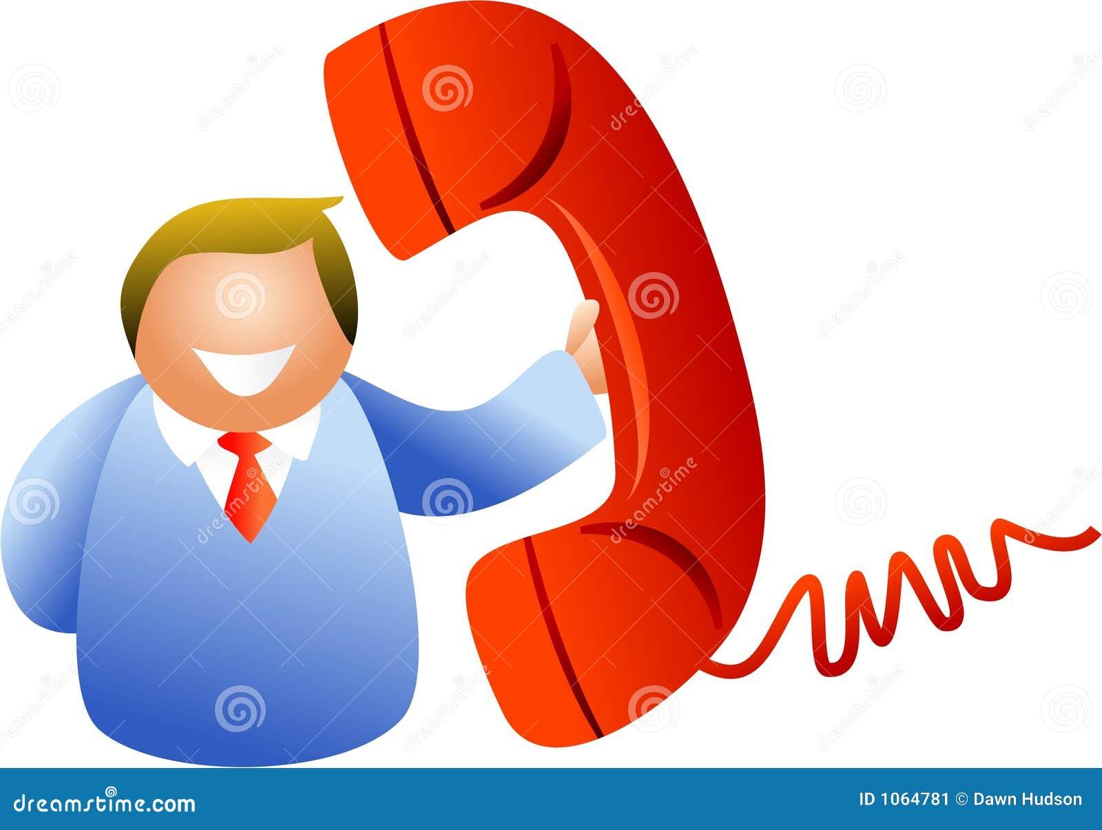Homme de téléphone