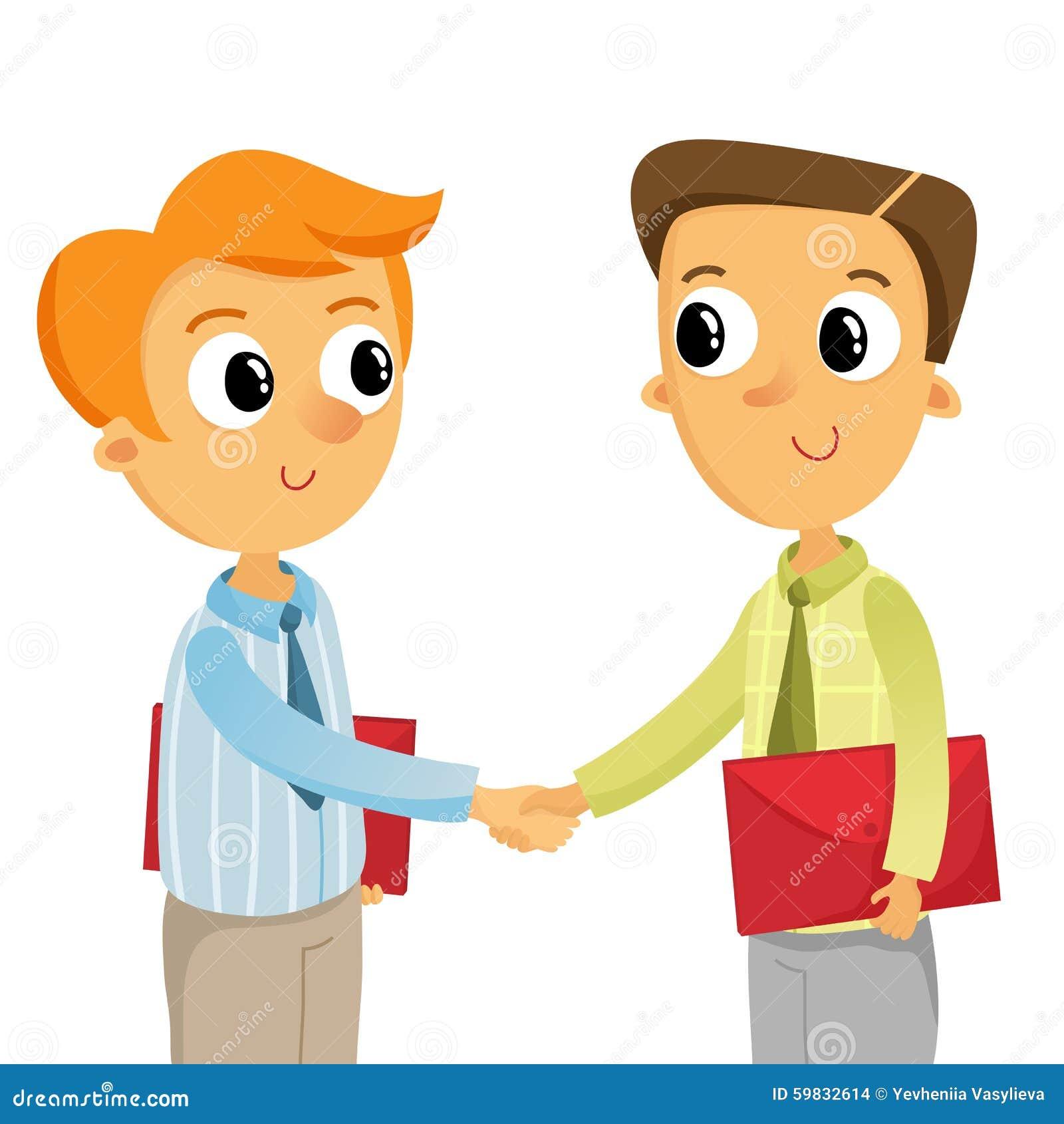 Homme des affaires deux se serrant la main d 39 isolement sur le blanc illustration de vecteur - Dessin 2 mains ...