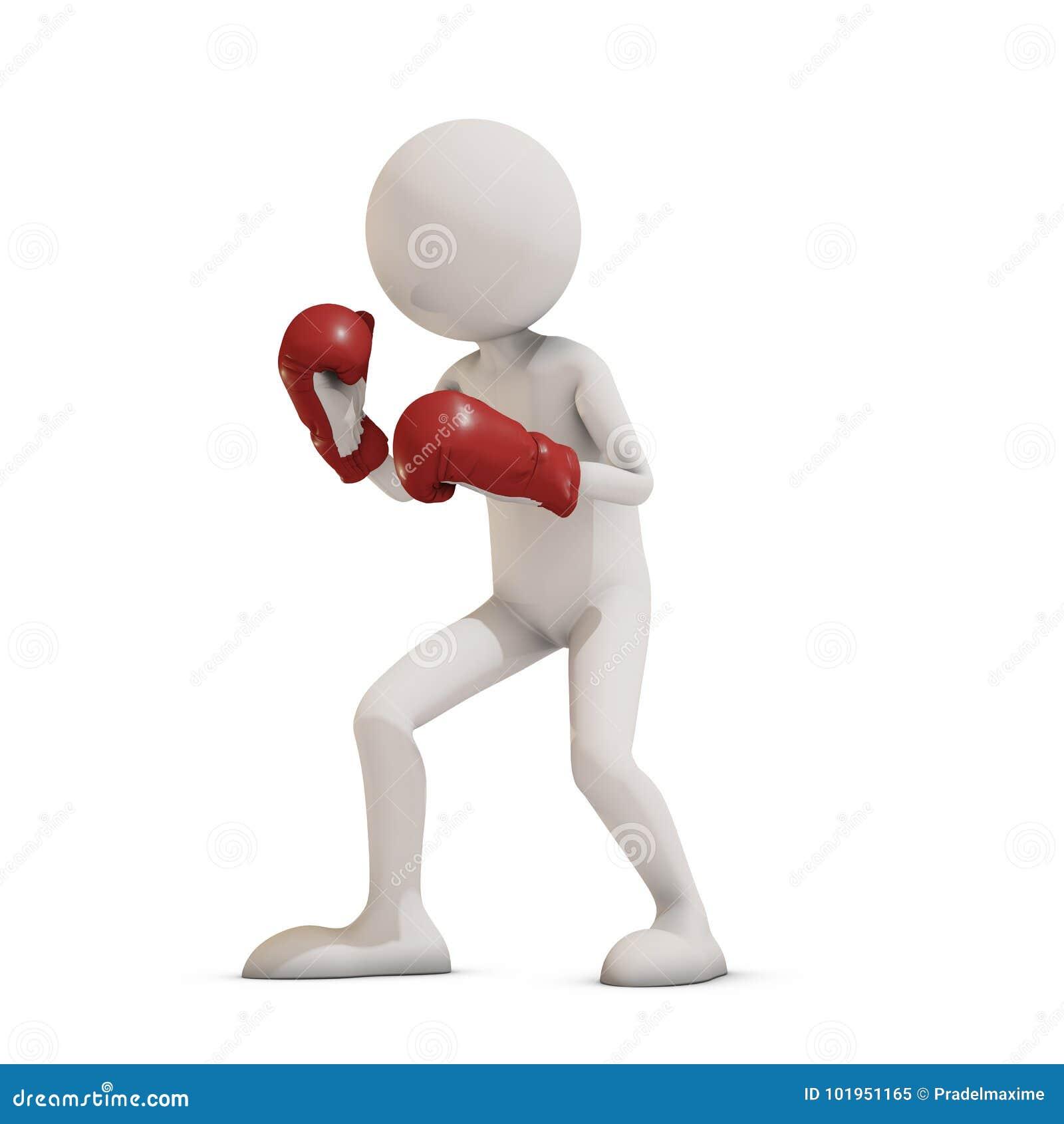 Homme du boxeur 3d
