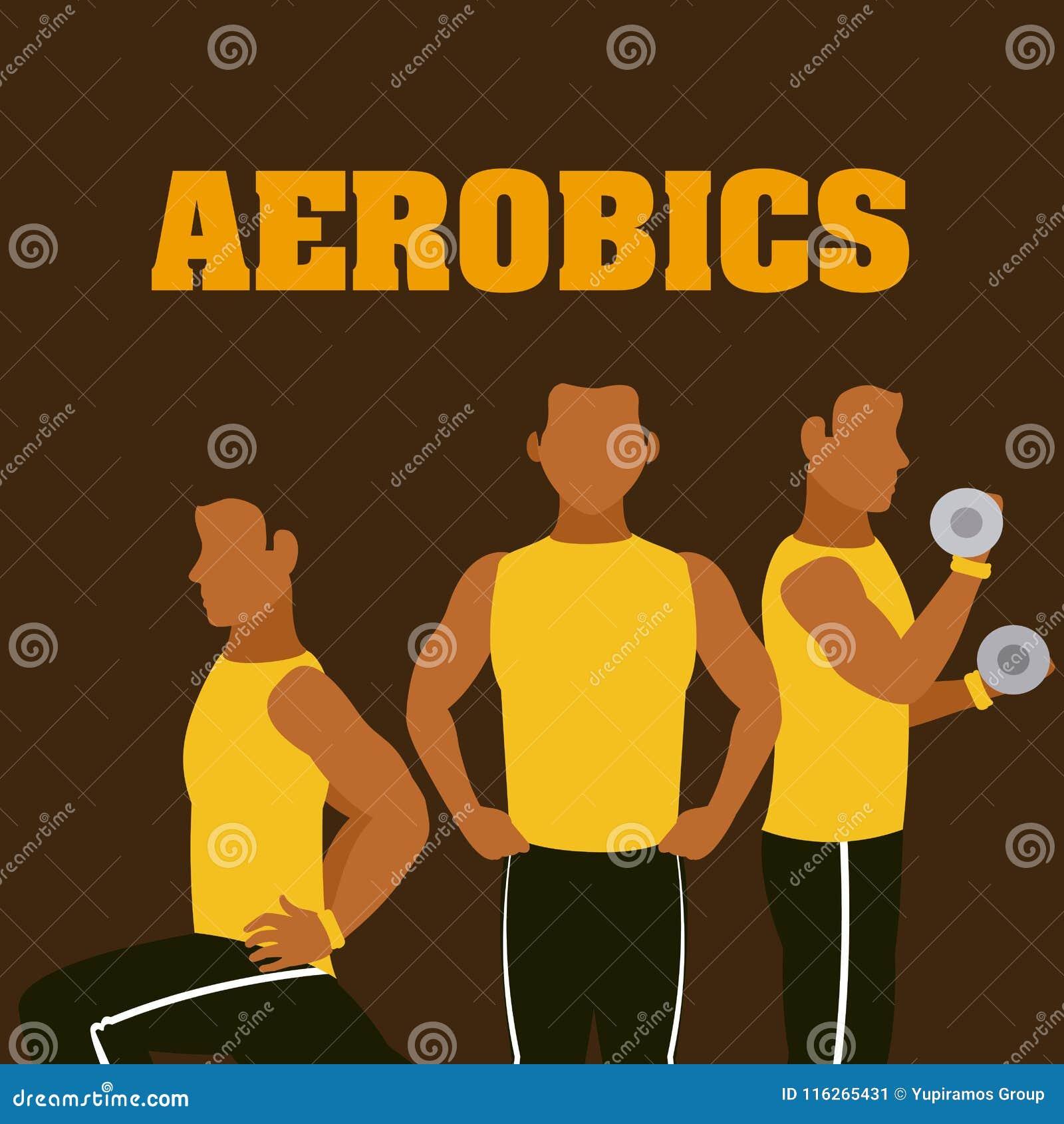 Homme et aérobic