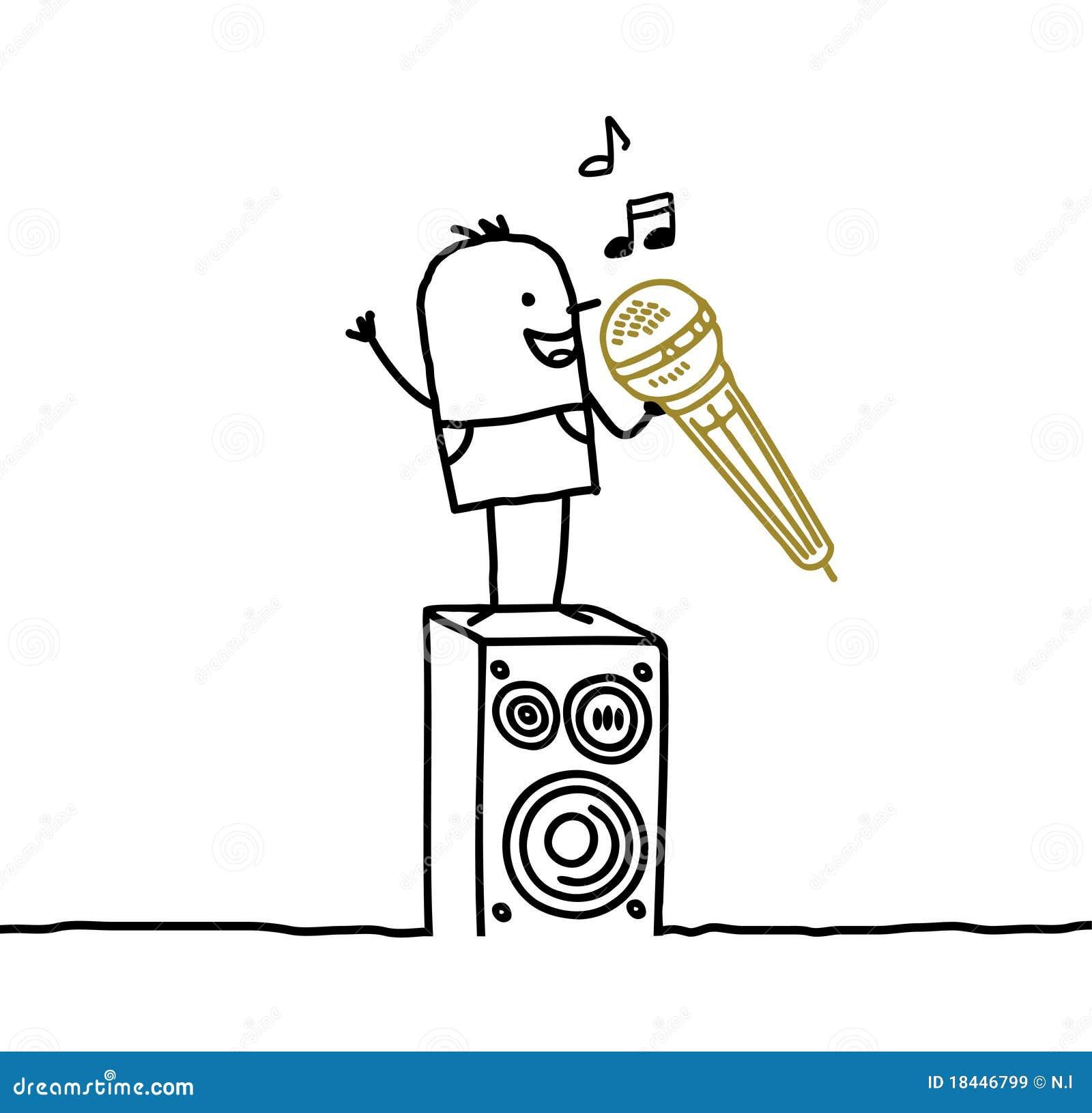 Homme et karaoke