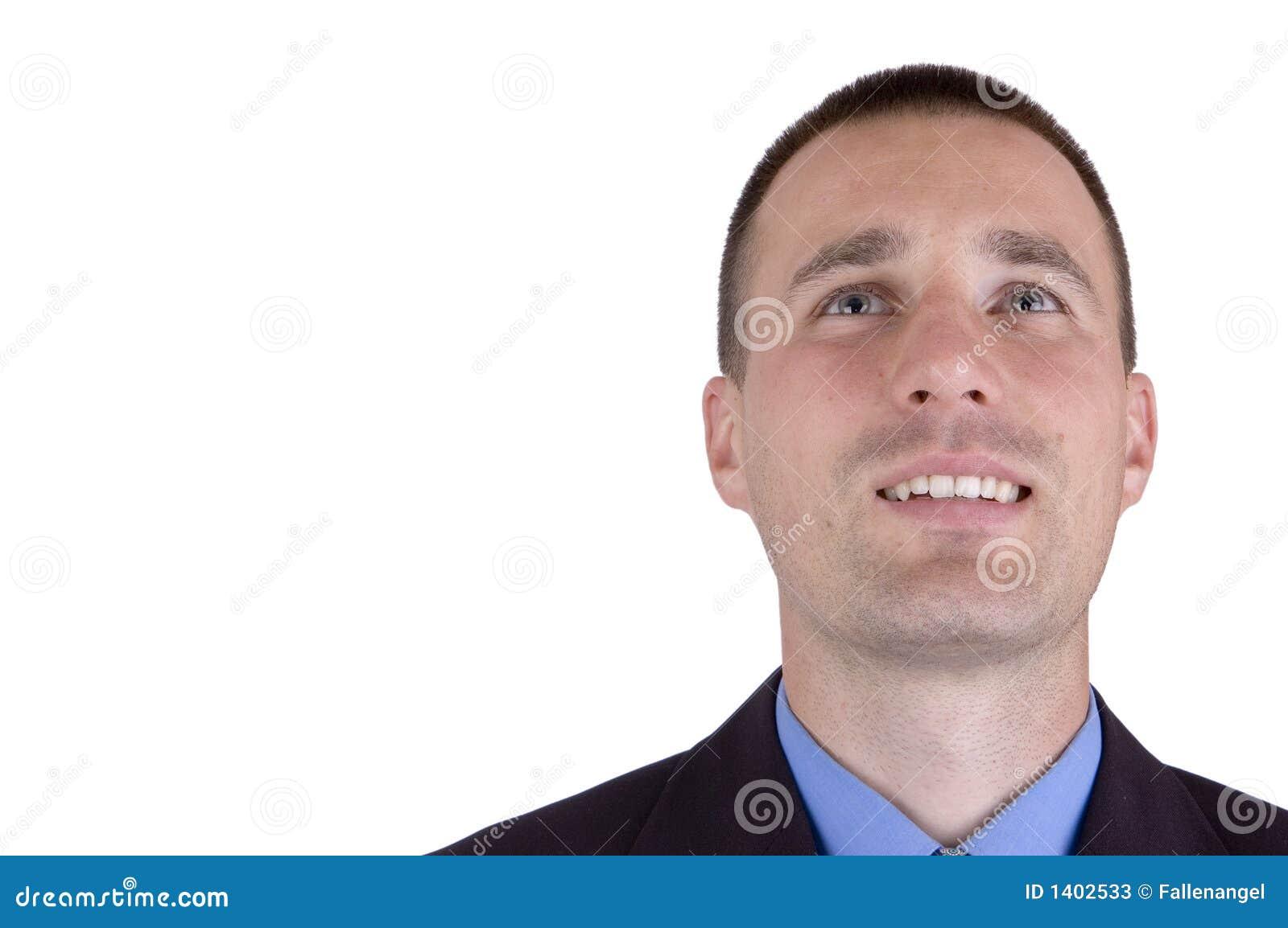 Homme heureux d affaires