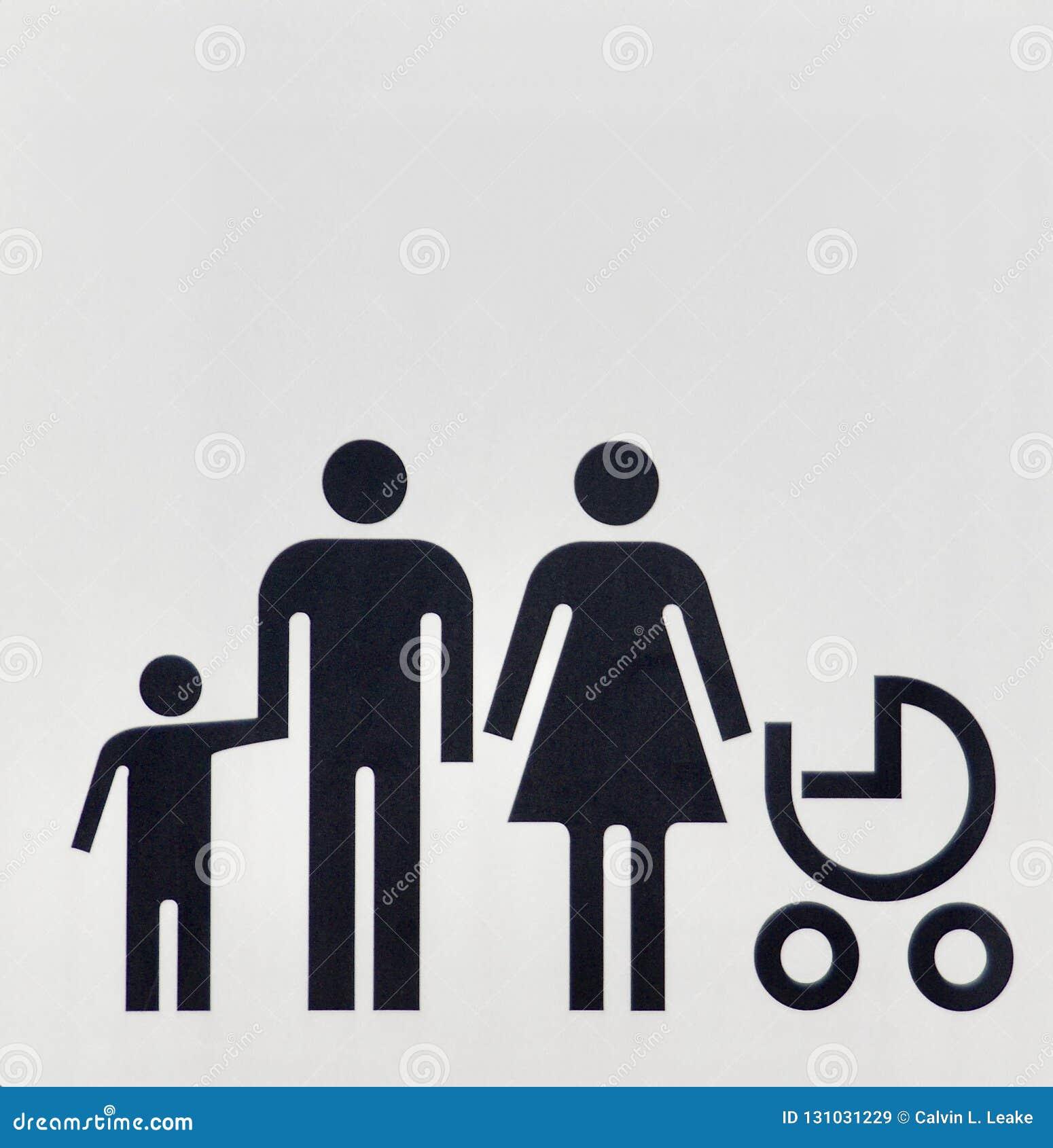 Homme marié et femme d unité familiale avec leurs enfants
