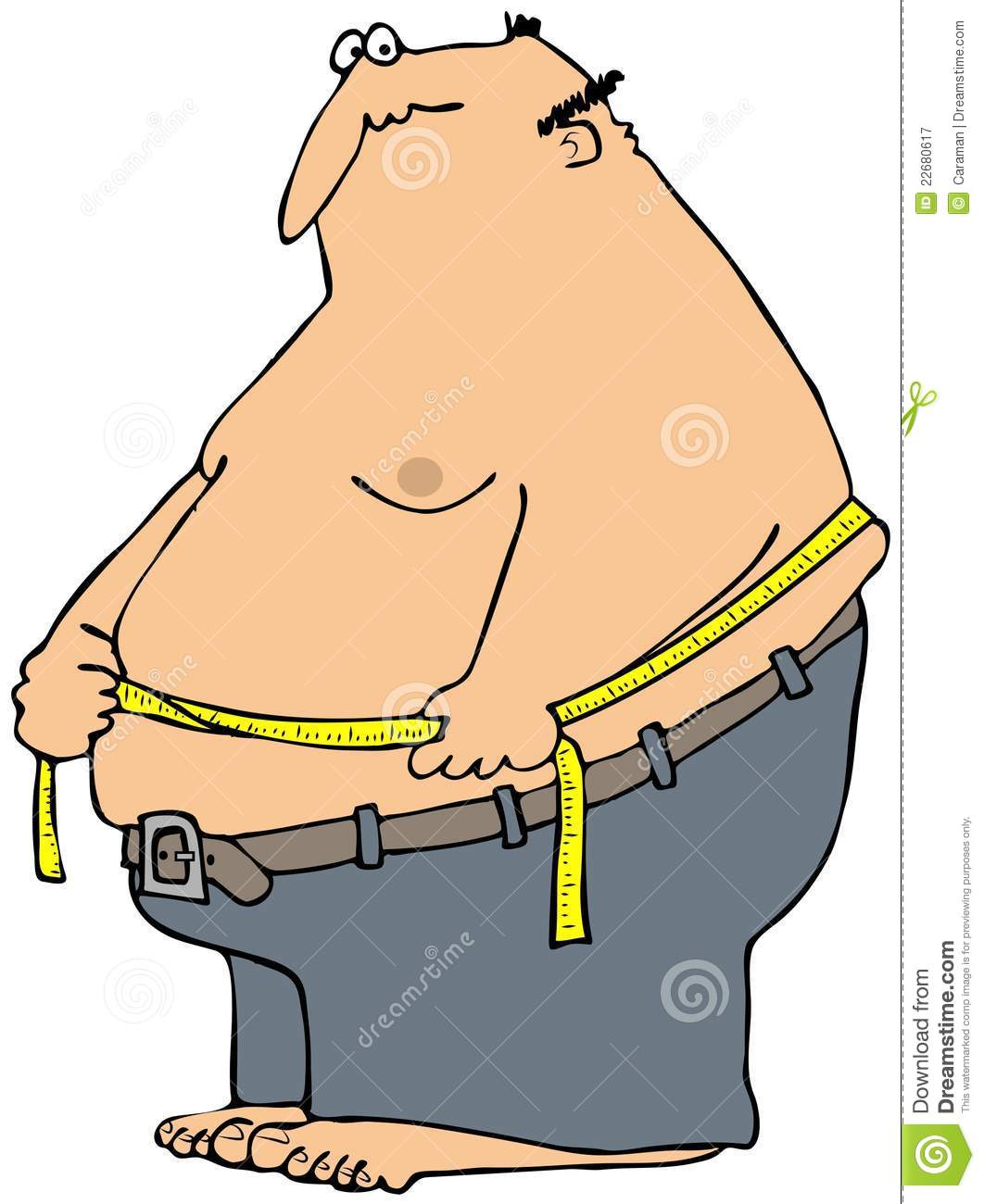 Homme mesurant sa taille