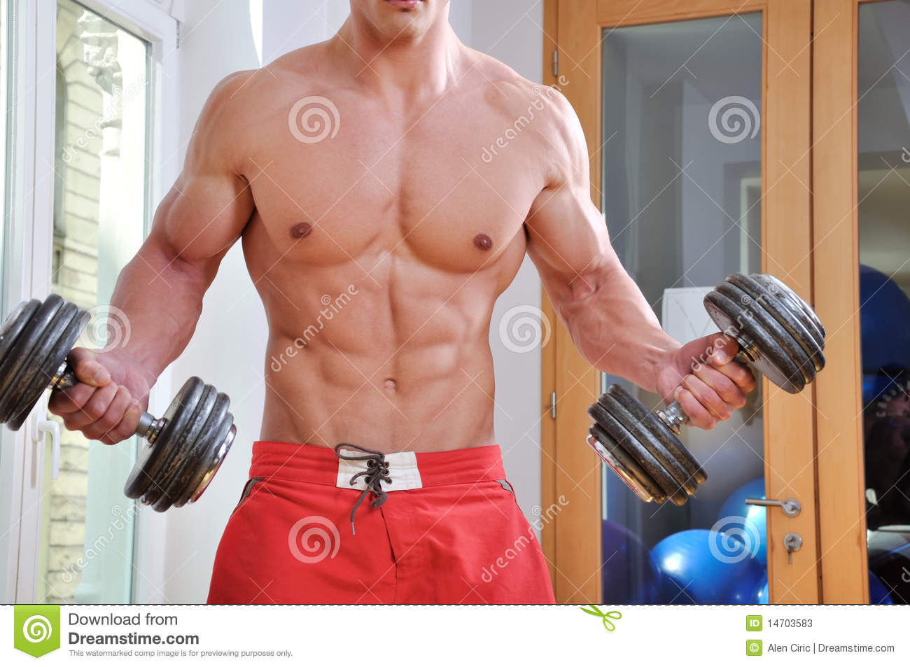Homme musculaire puissant