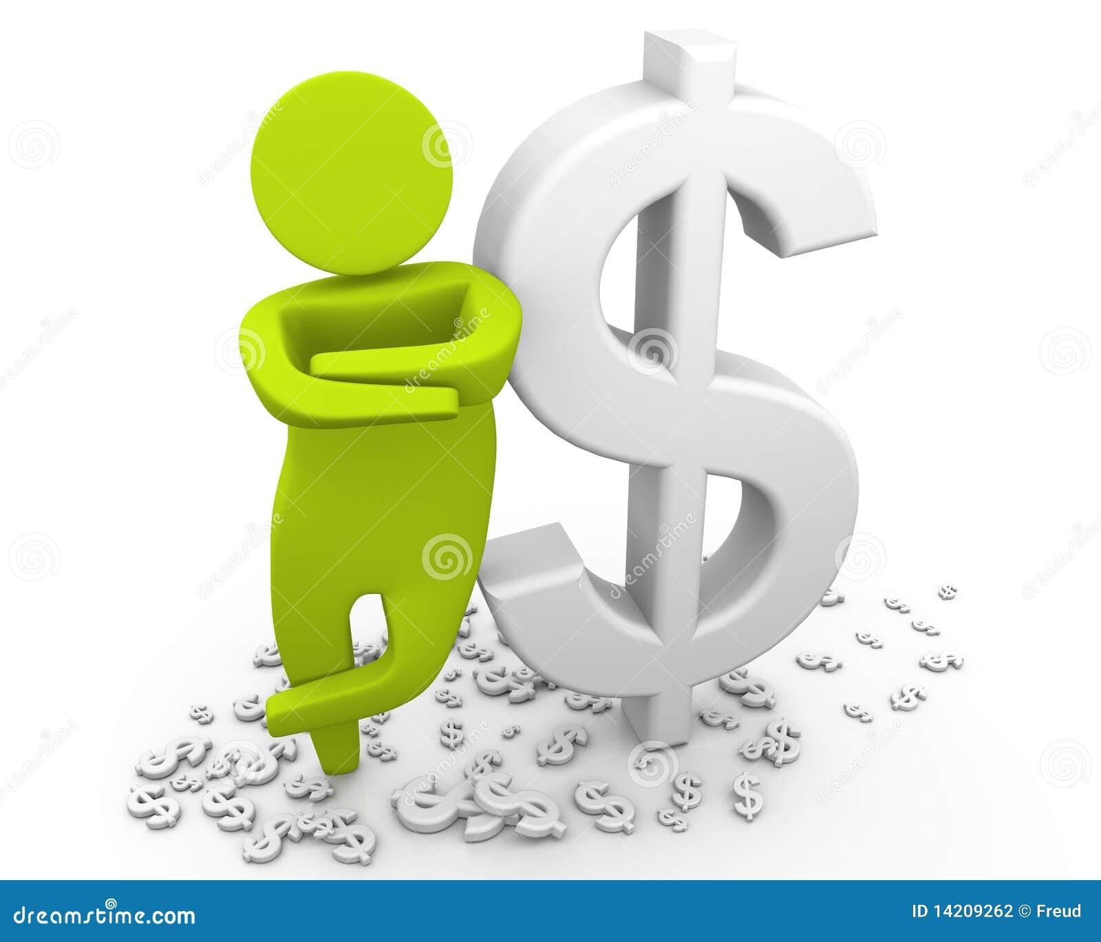 Homme riche - dollar