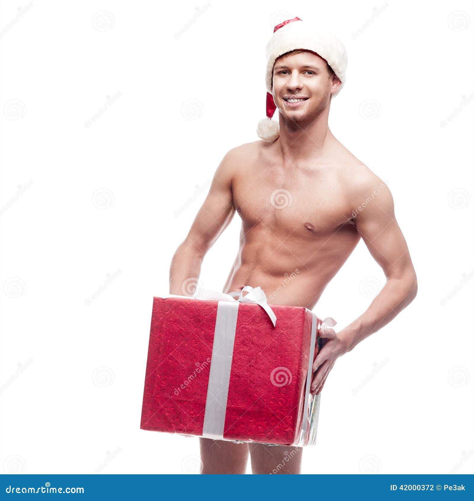 homme sexy de no l photo stock image du fixation heureux 42000372. Black Bedroom Furniture Sets. Home Design Ideas