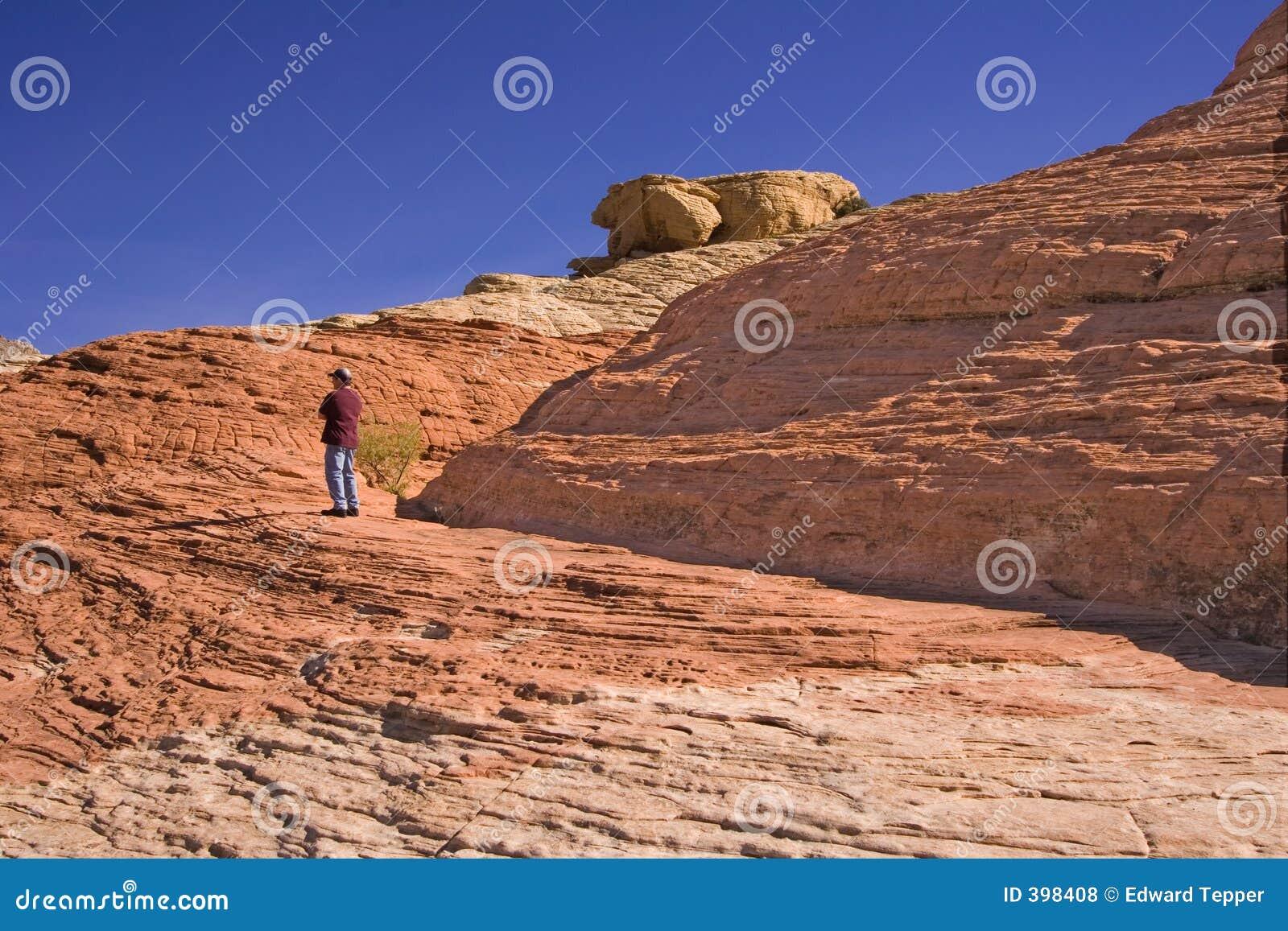 Homme sur la montagne