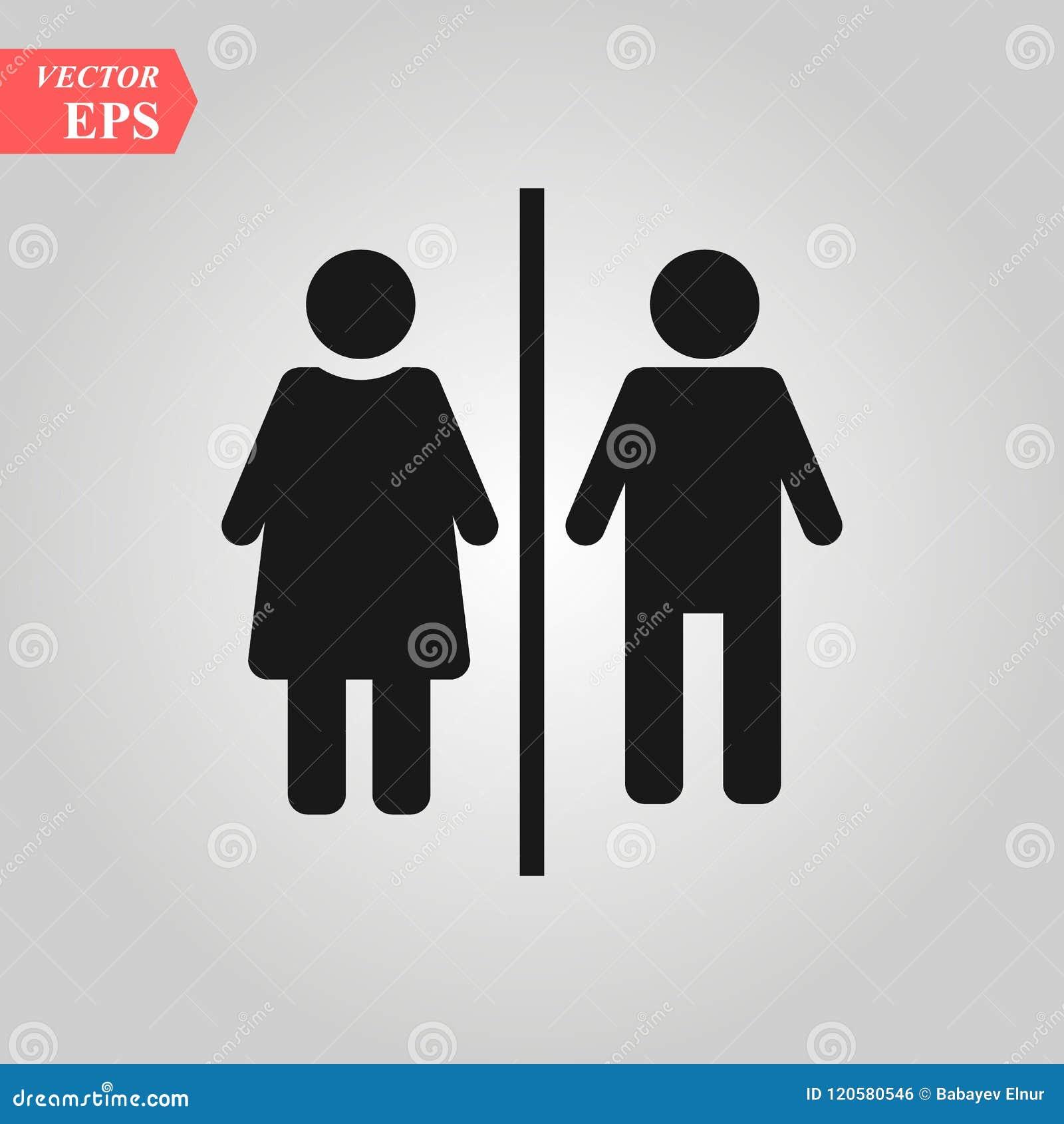 Homme Vecteur Dicône De Toilette De Femme Sexe Genre Fille
