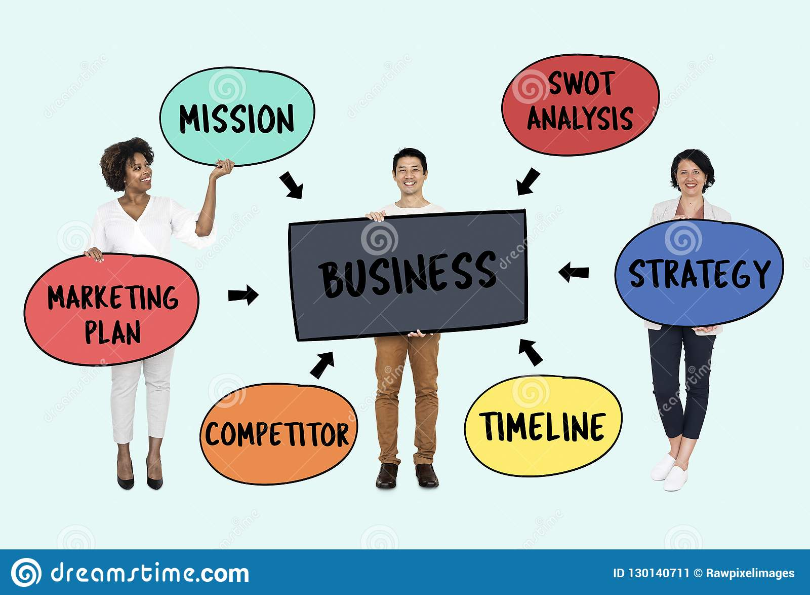 Hommes d affaires avec un plan stratégique