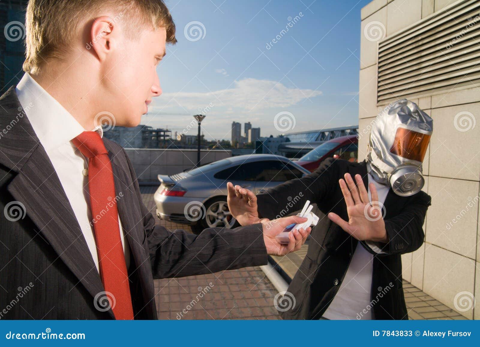 Hommes d affaires deux jeunes