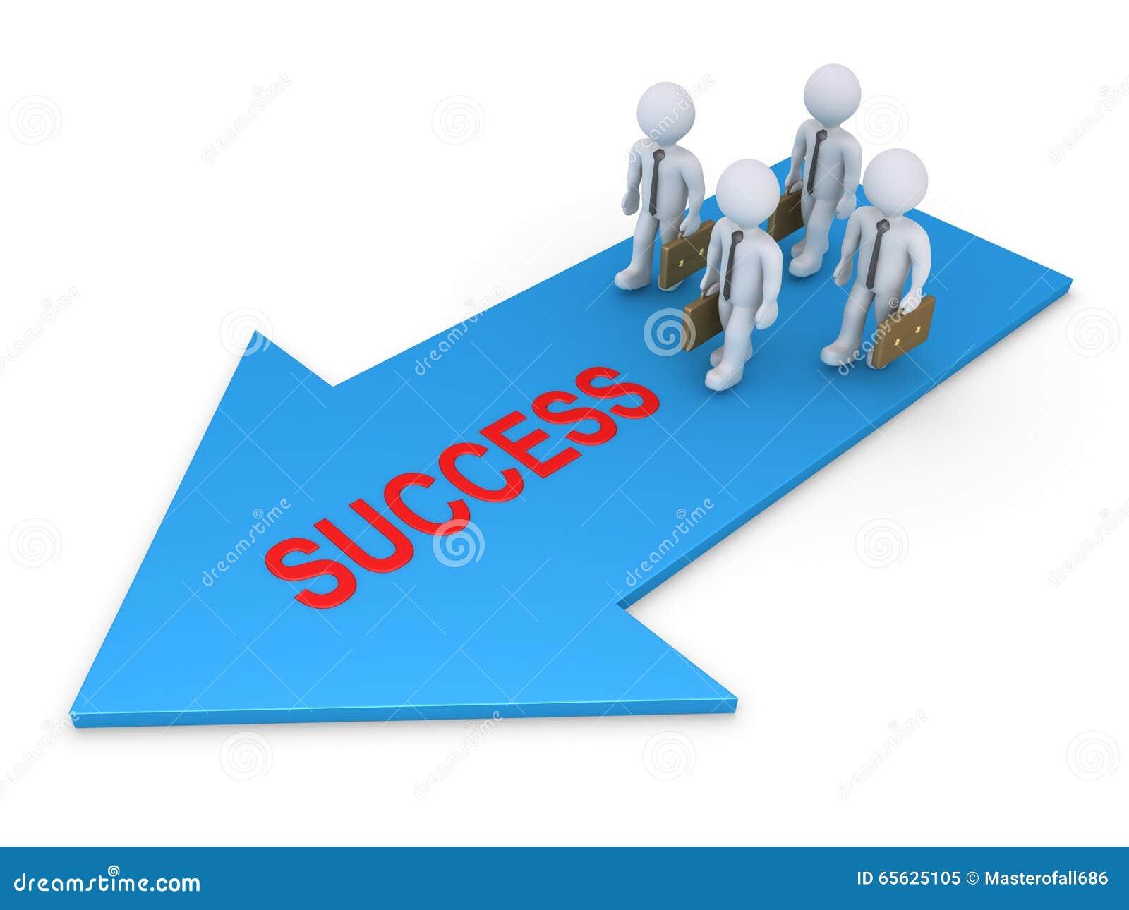 Hommes d affaires marchant vers le succès