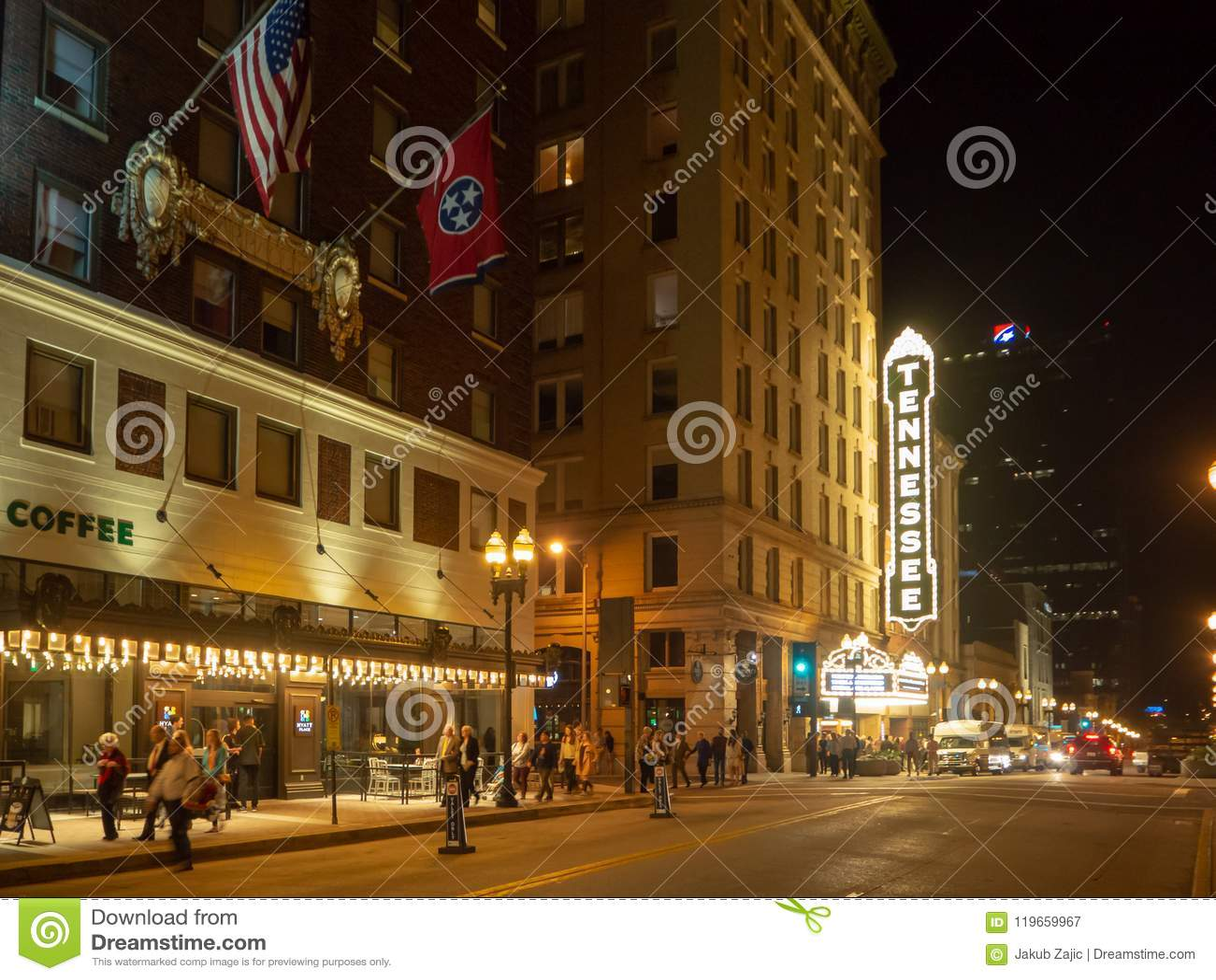 Homoseksualna ulica, Knoxville, Tennessee, Stany Zjednoczone Ameryka: [nocy życie w centrum Knoxville]