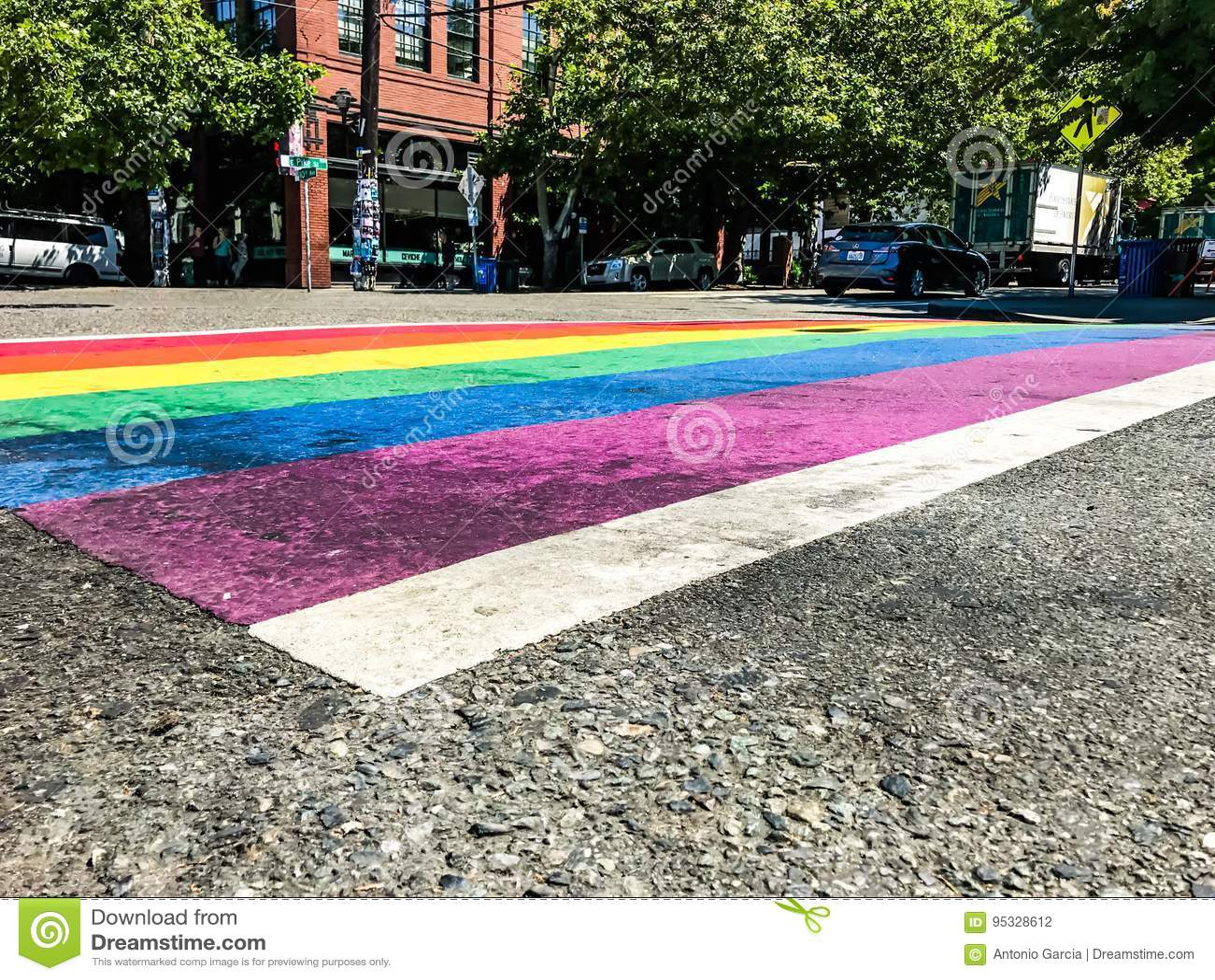 Homoseksualnej dumy flaga crosswalk