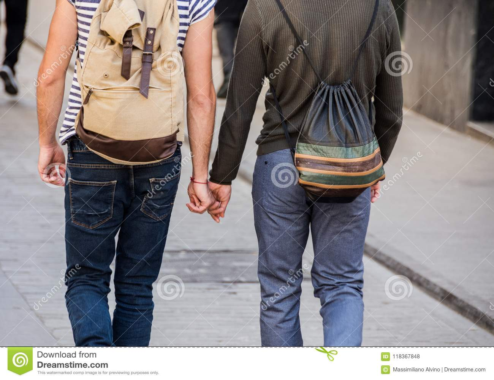Homosexual walking down the street
