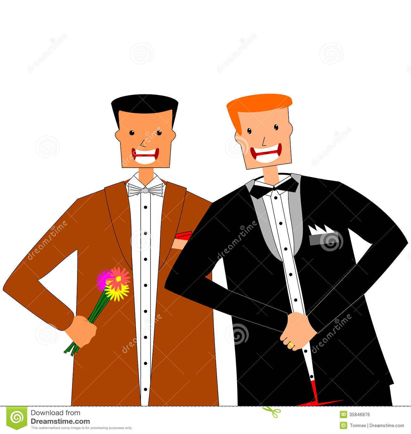 Homosexuelle Ehe vektor abbildung. Illustration von paare - 35846876