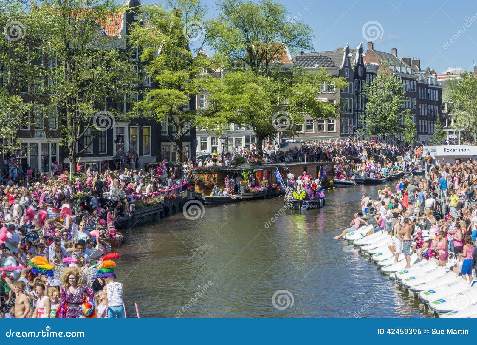 Homosexuelles Pride Amsterdam August 2013
