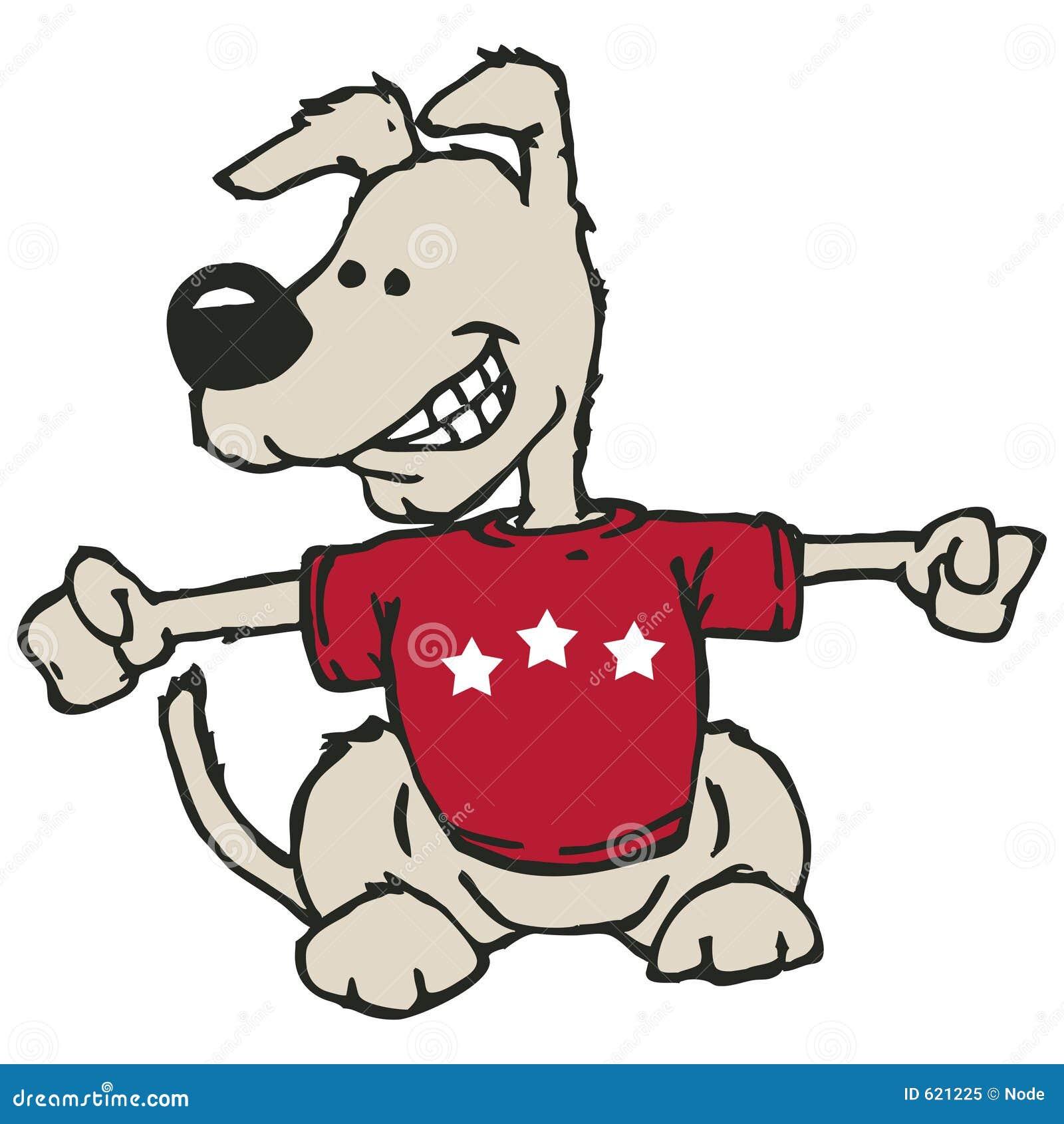 Hond met het knippen van weg