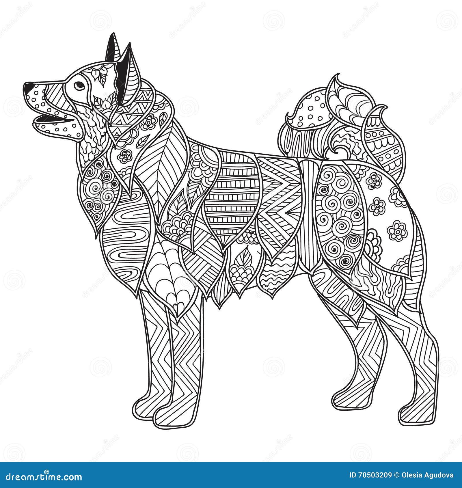 Hond Volwassen Antistress Of Kinderen Die Pagina Kleuren