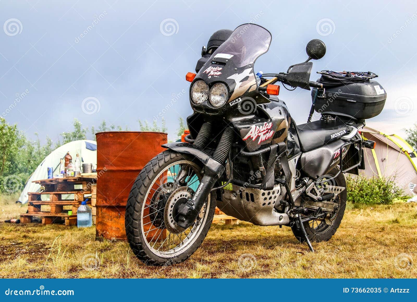 Honda Africa Twin 750 Editorial Image Image Of Bike 73662035