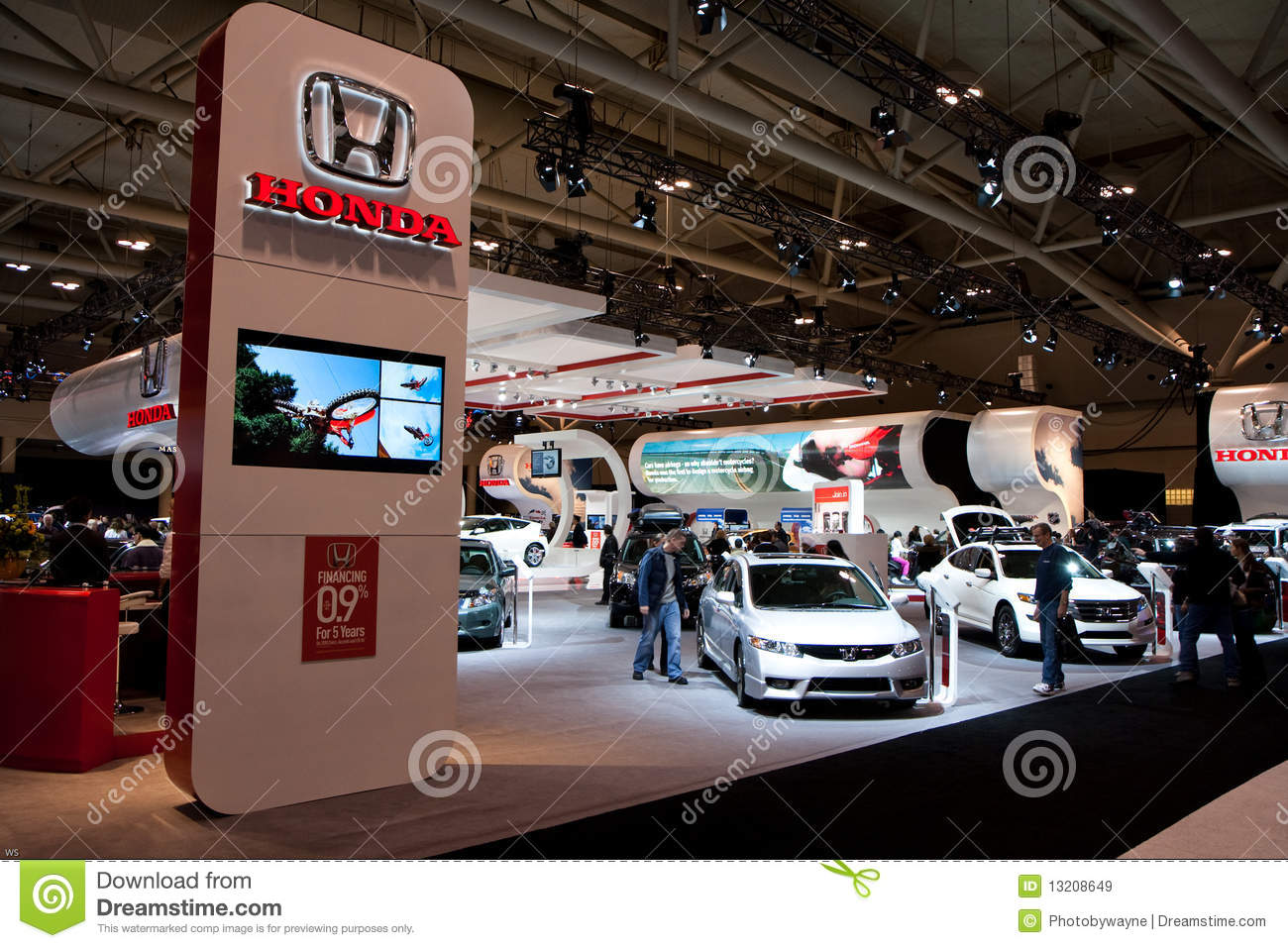 Honda Booth At The Auto Show Editorial Stock Image Image Of - Car show booth