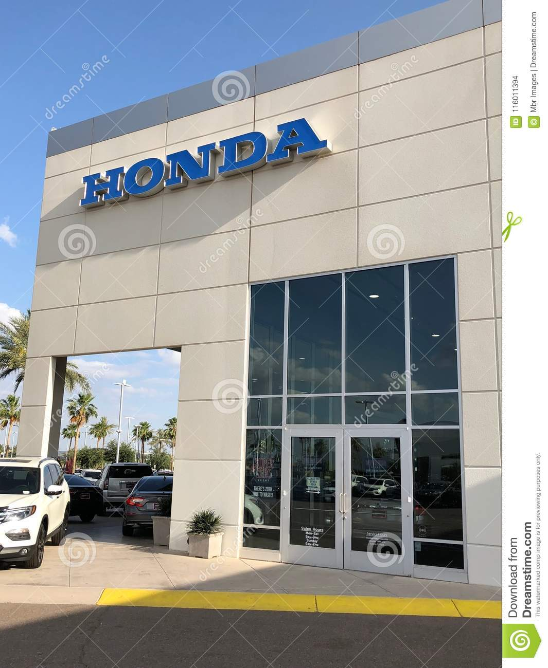 Honda Dealership Az >> Honda Car Dealership Editorial Stock Image Image Of