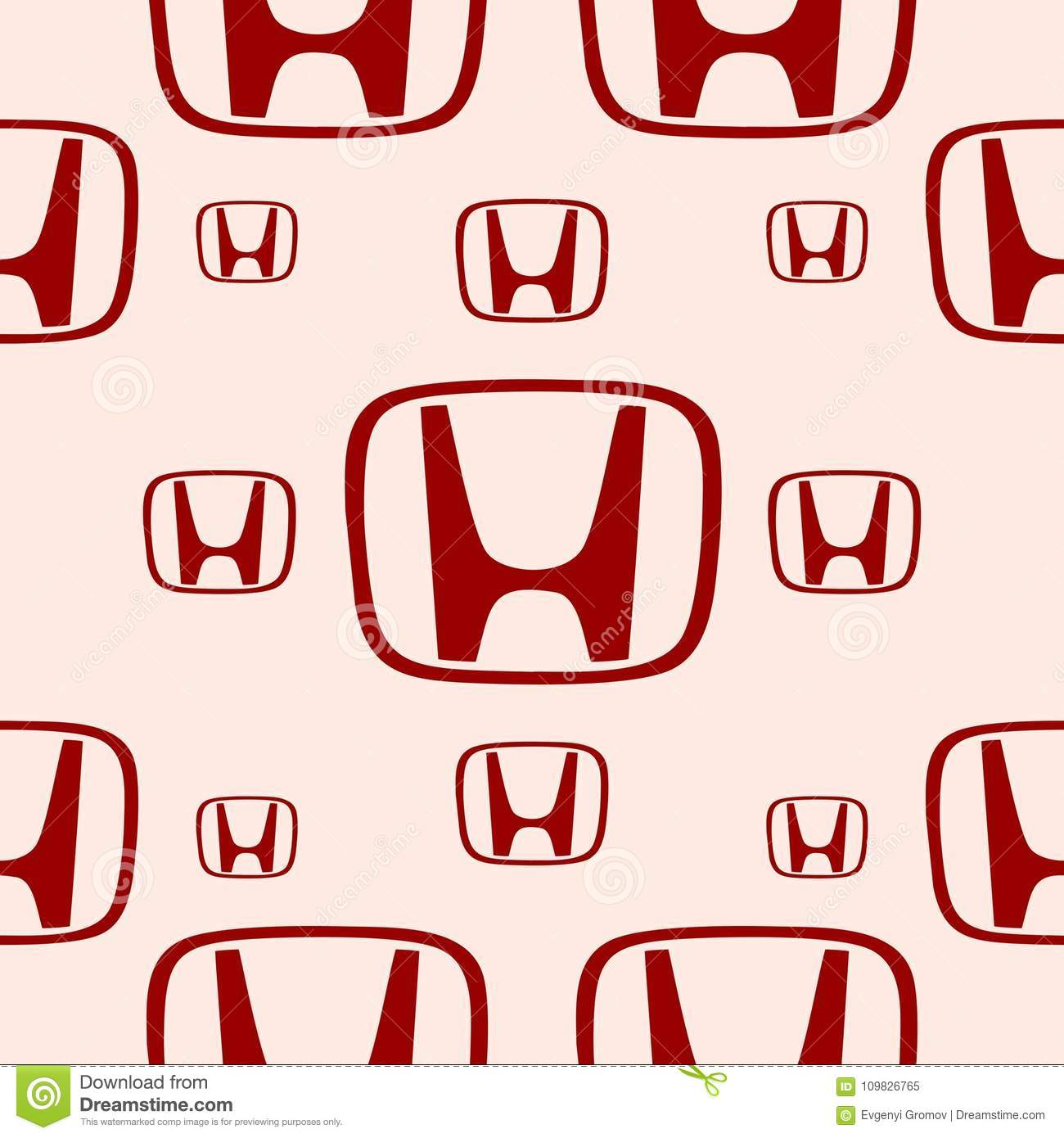 Honda Car Emblem Editorial Image Illustration Of Famous