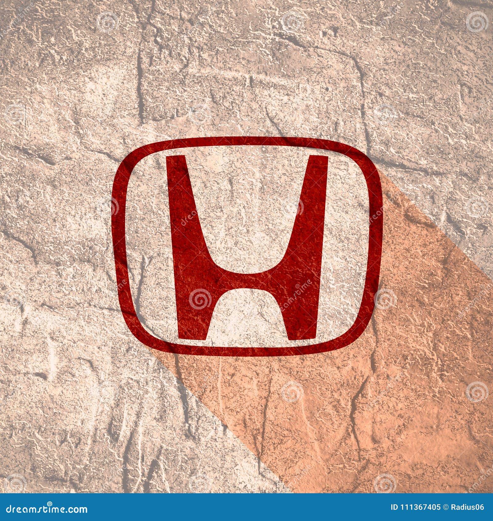 Honda Car Emblem Editorial Image Illustration Of Machine 111367405