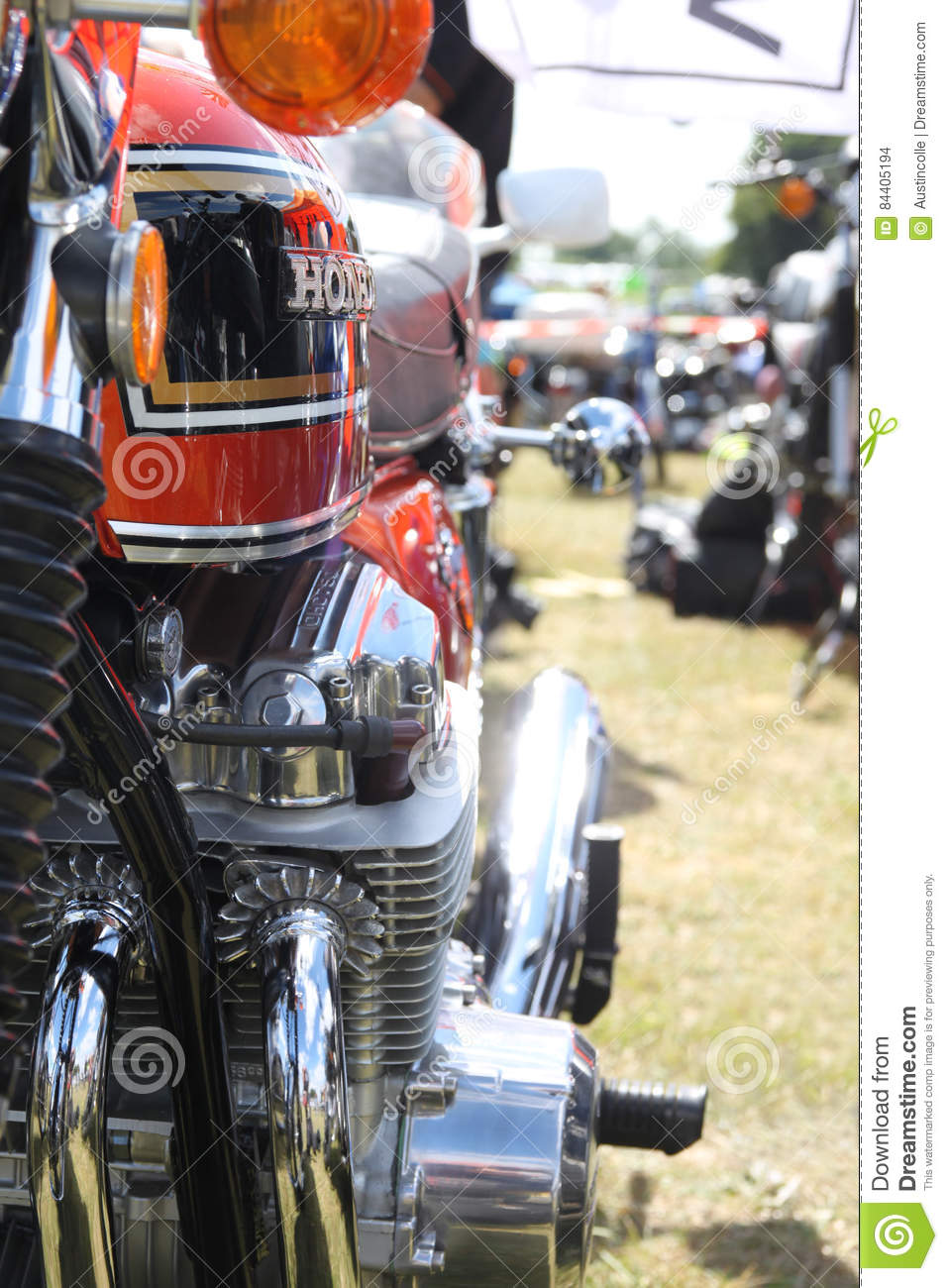 Honda Cb 750 Four Engine And Petrol Tank Editorial Stock Image