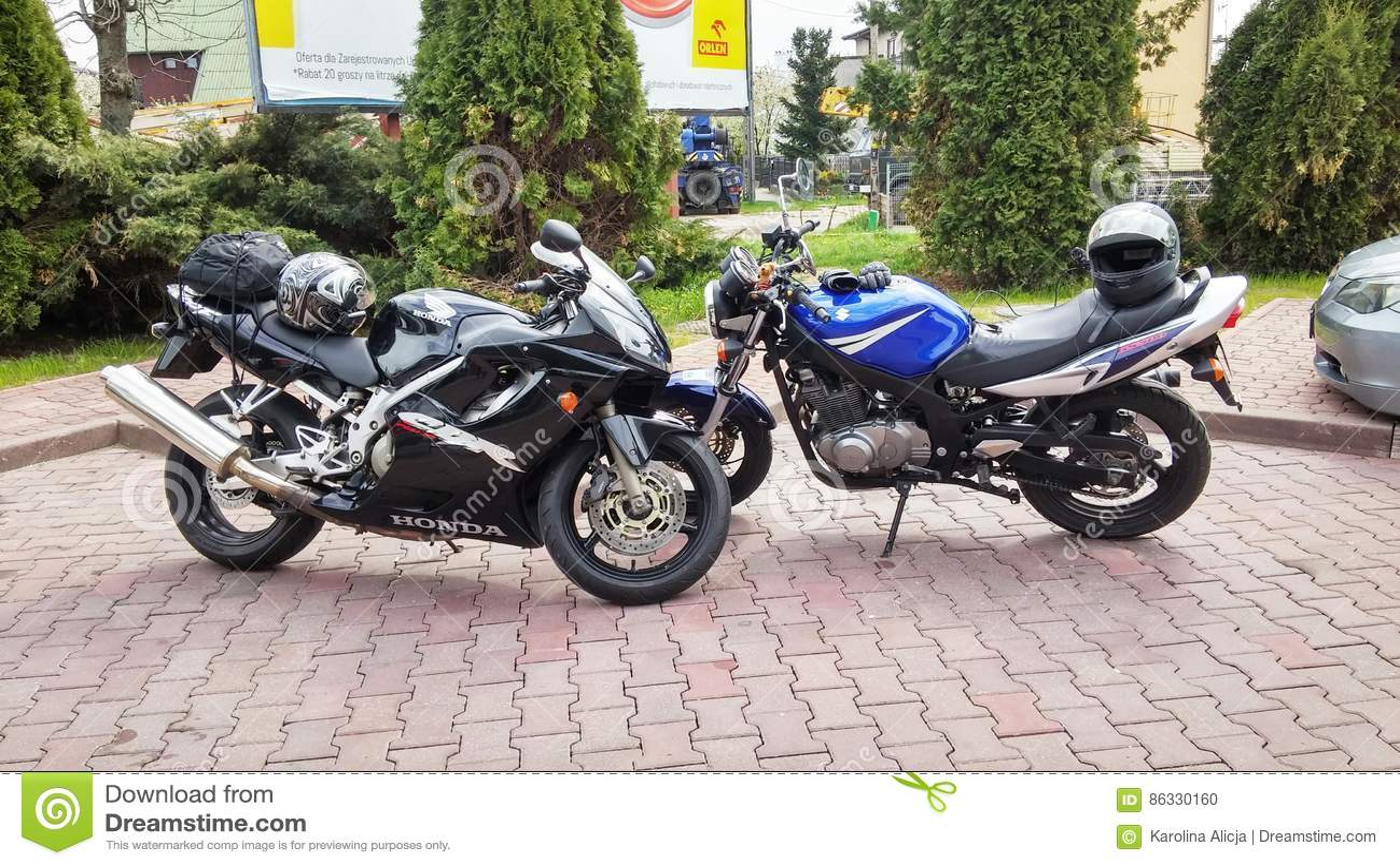 Dodatkowe Honda CBR 600 And Suzuki GS 500 Motobike Editorial Image - Image HO28