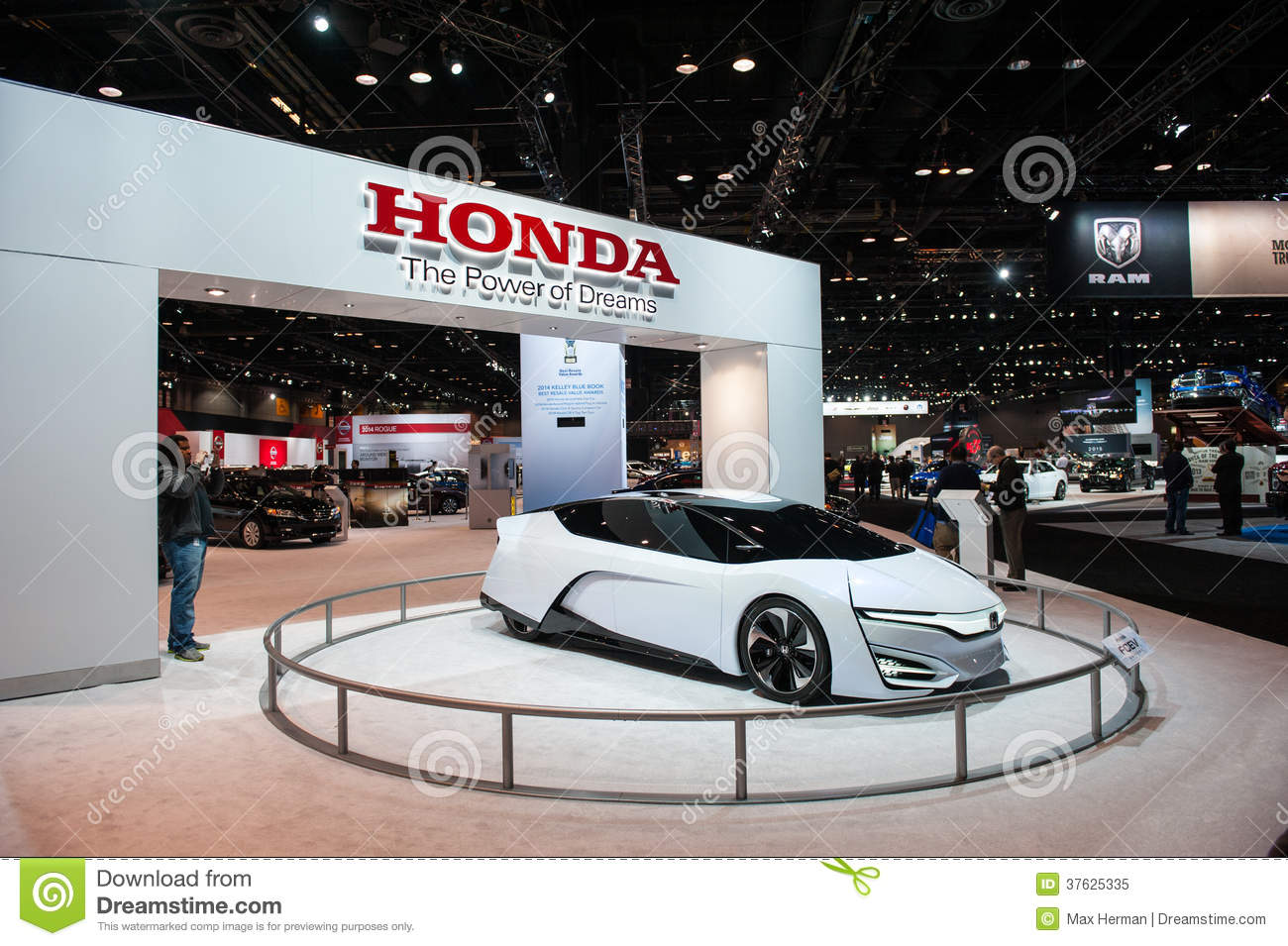 Honda at the chicago auto show editorial image image 37625335