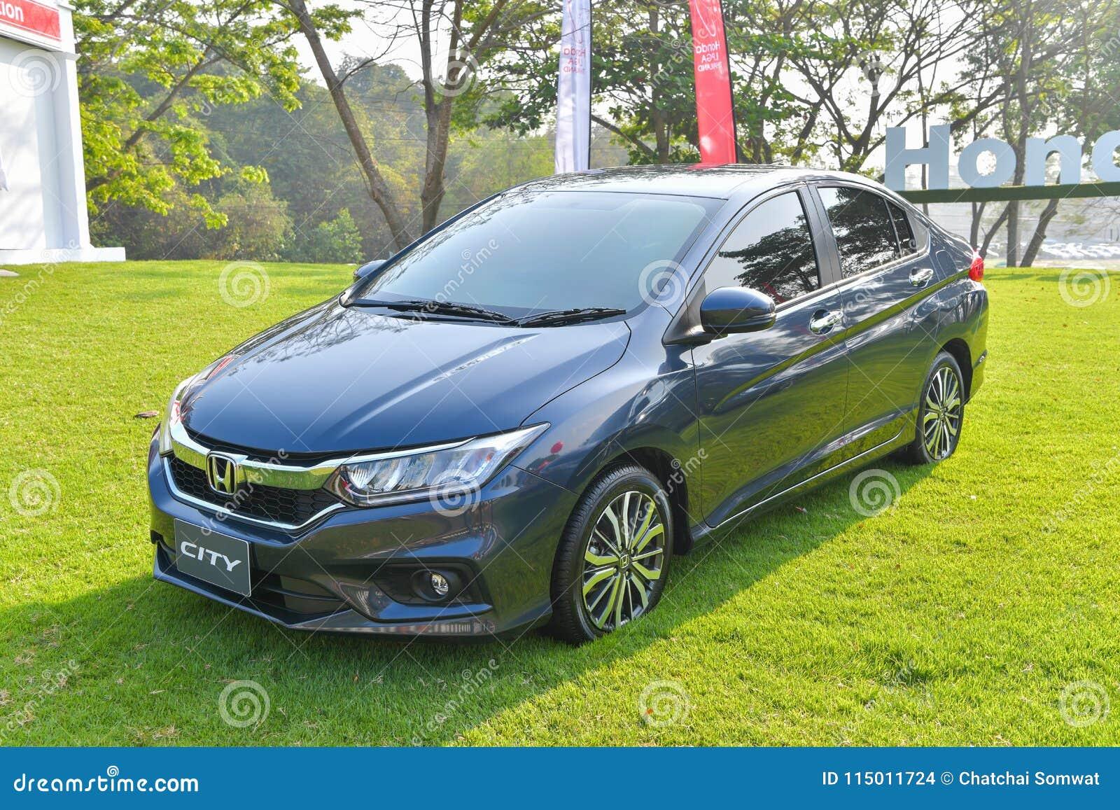 Honda City Car Course In Honda Lpga Thailand 2018 Editorial Stock