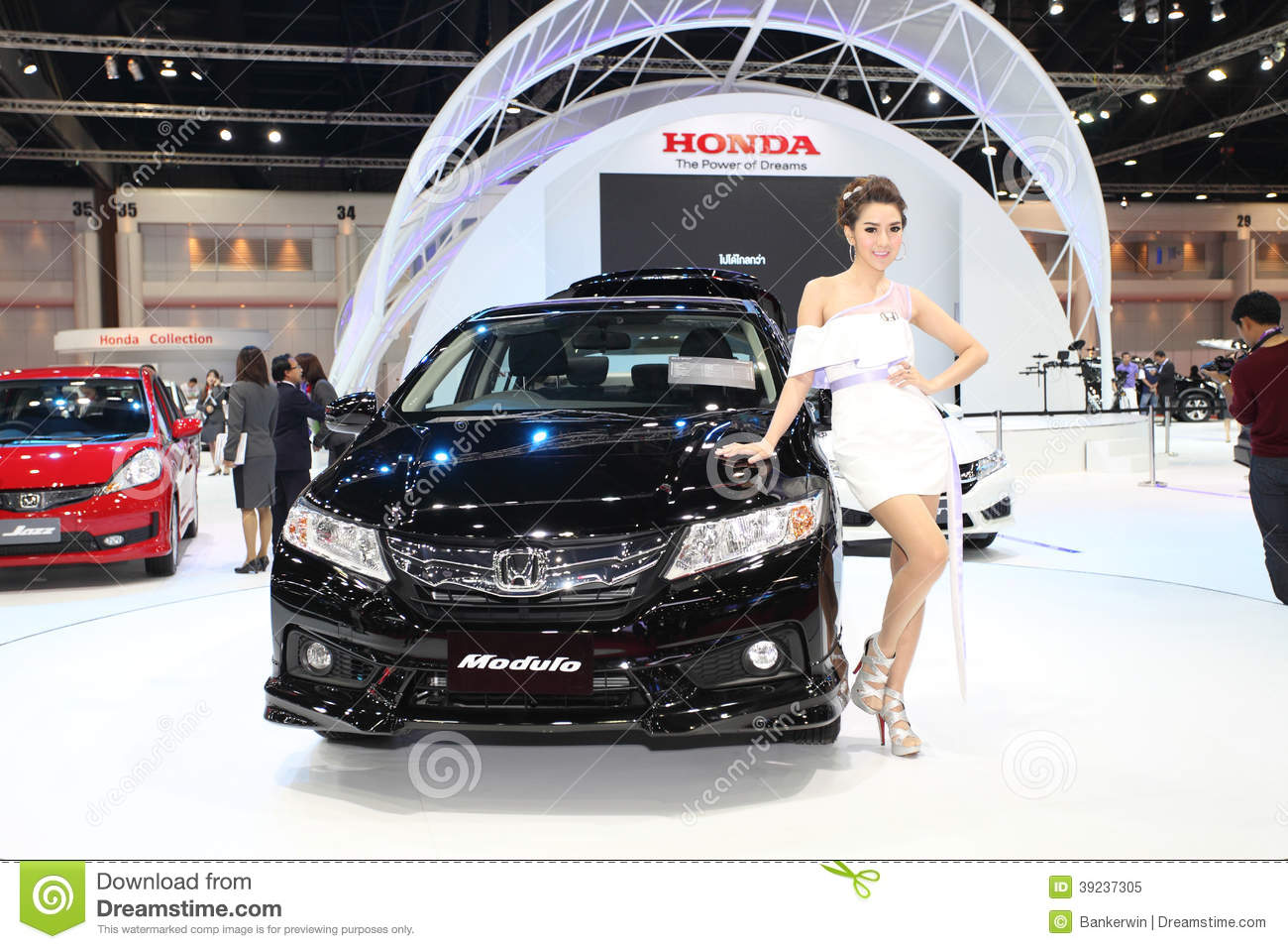 Honda Civic Car And Modulo Kit With Unidentified Model Editorial