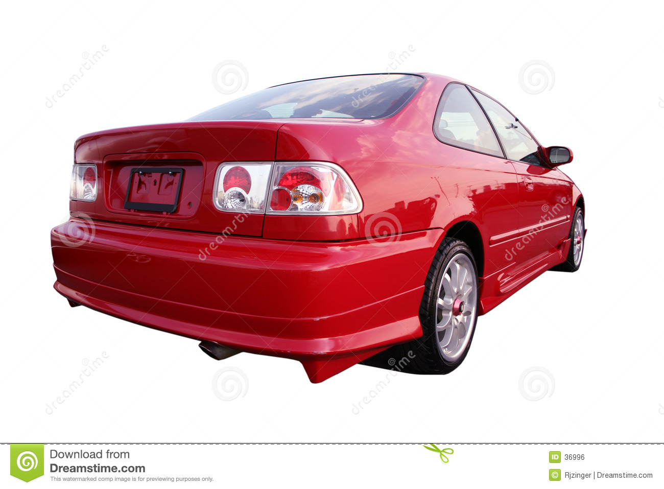 Honda Civic EX - Red 1