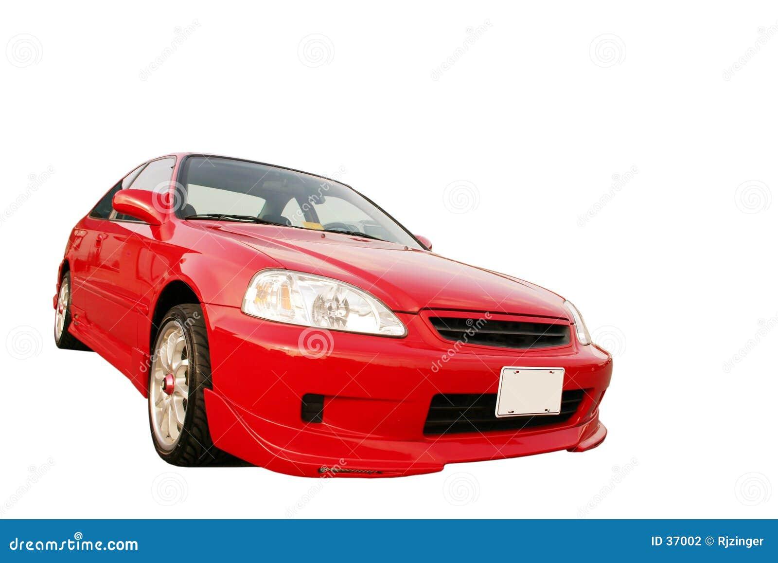 Download Honda Civic EX - rojo 3 foto de archivo. Imagen de piloto - 37002