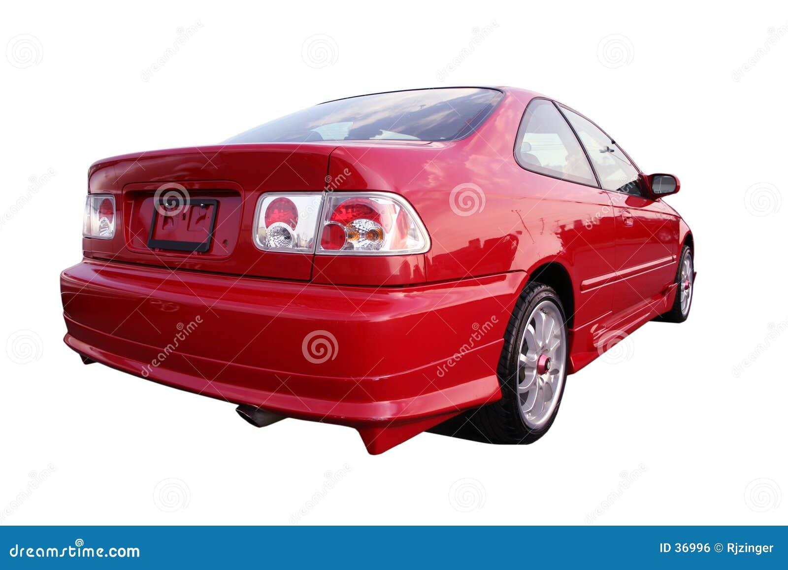 Honda Civic EX - rouge 1