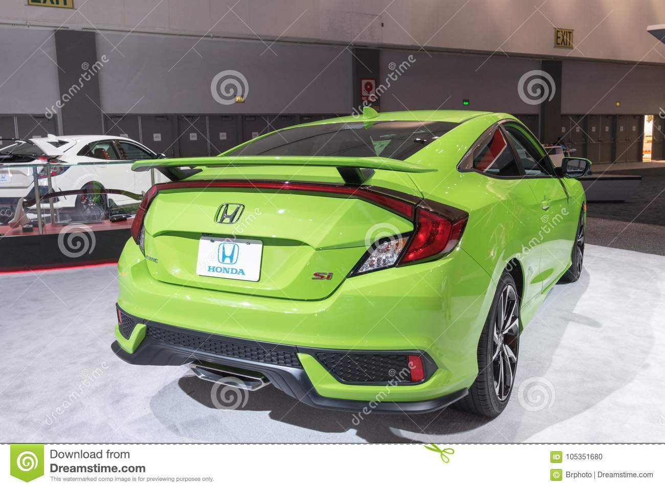Honda Civic Hatchback On Display During LA Auto Show Editorial Image - Civic center car show