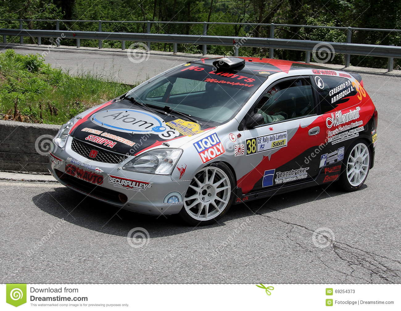 honda civic rally car editorial stock photo image of