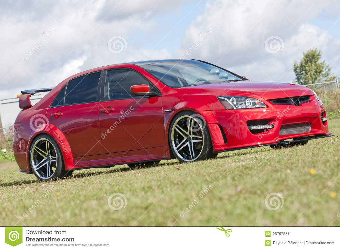 Honda Civic Red Royalty Free Stock Photography Image