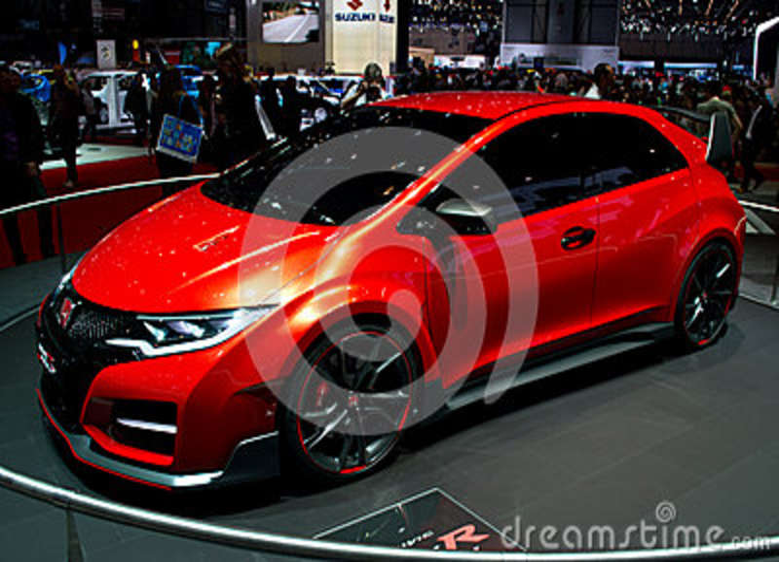 Honda Civic Type R Concept Geneva 2014 Editorial Photo Image Of