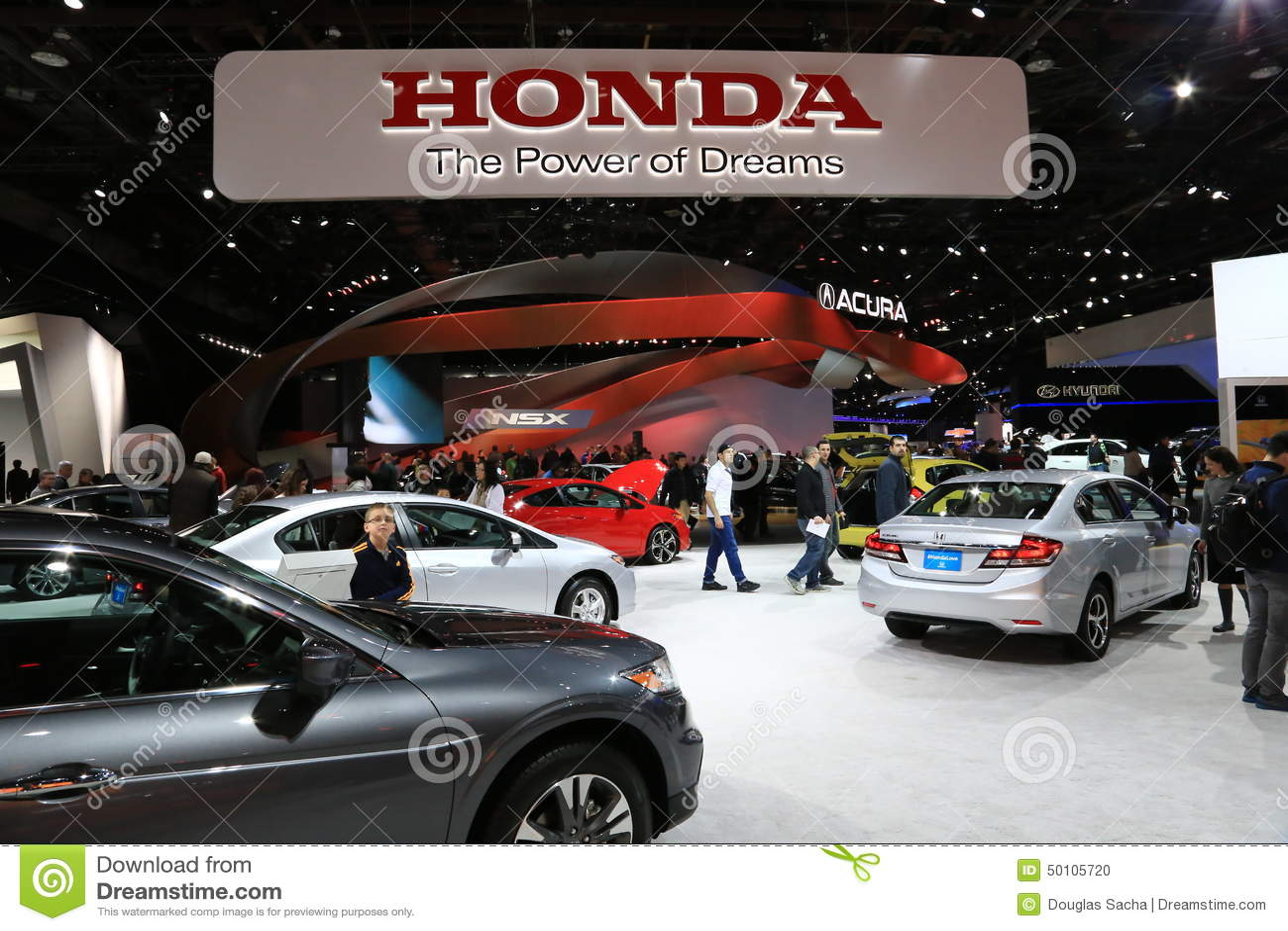 Honda Display At The Auto Show Editorial Image