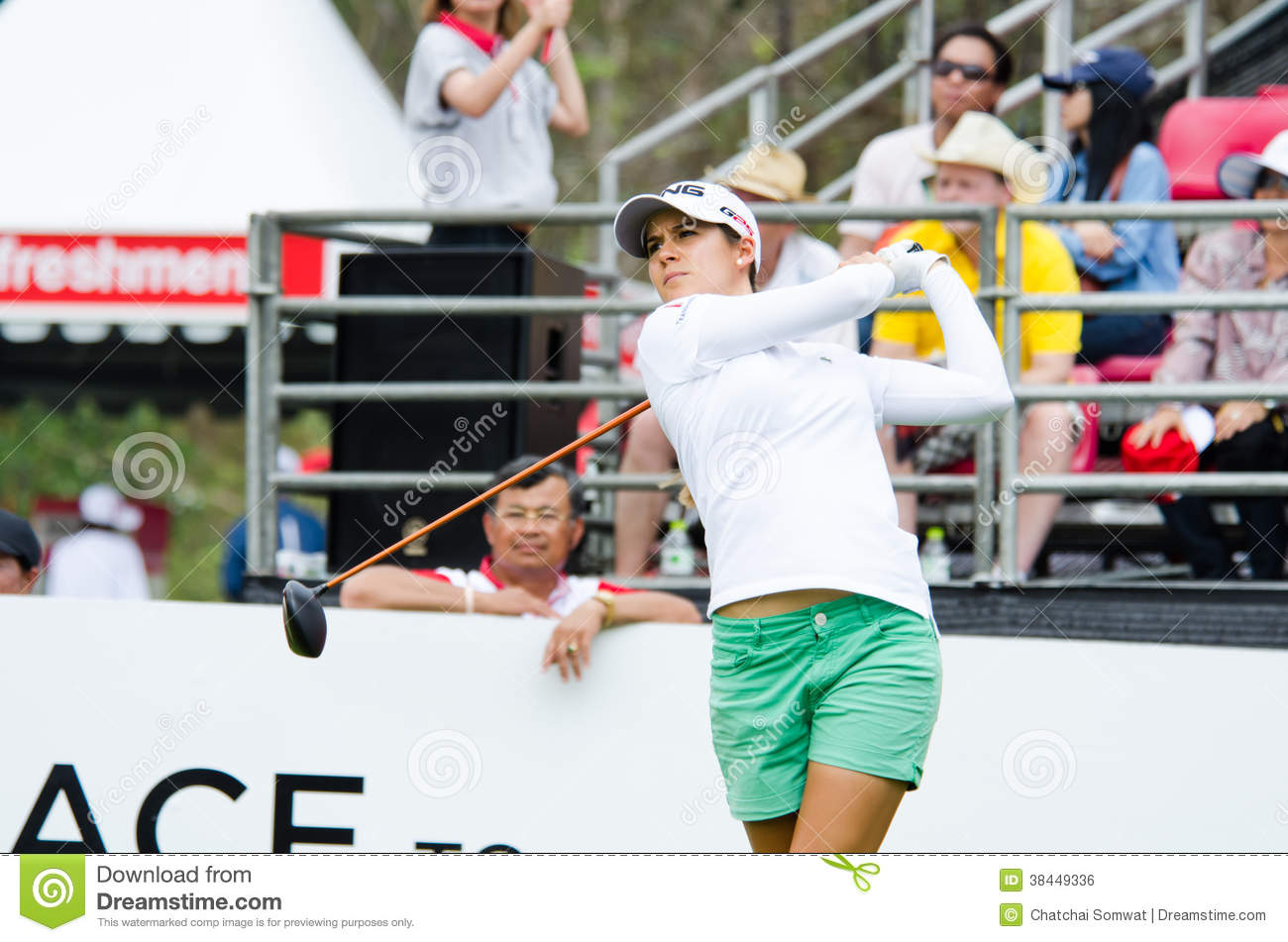 22: Azahara Munoz golfer from Spain in Honda LPGA Thailand 2014