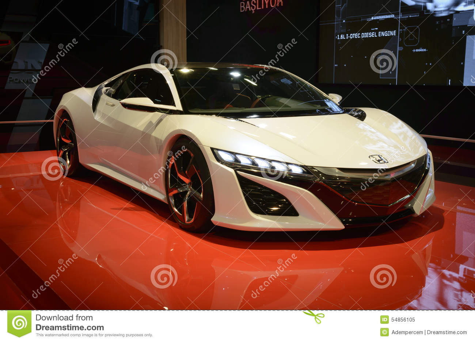 Honda Nsx Concept Car Editorial Image Image Of Exclusive 54856105
