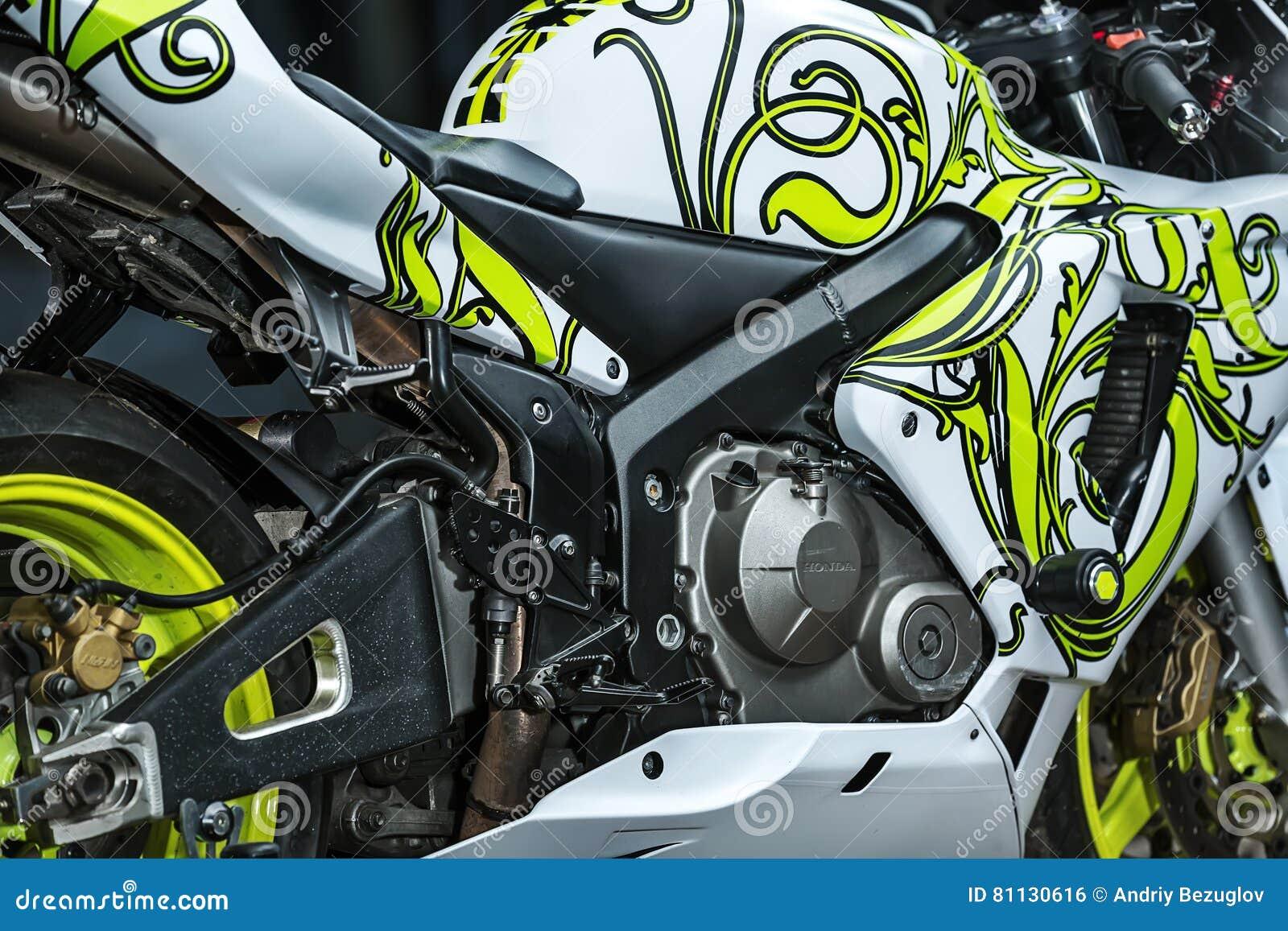 Honda Sport Motorbike Tuning Editorial Photo - Image of