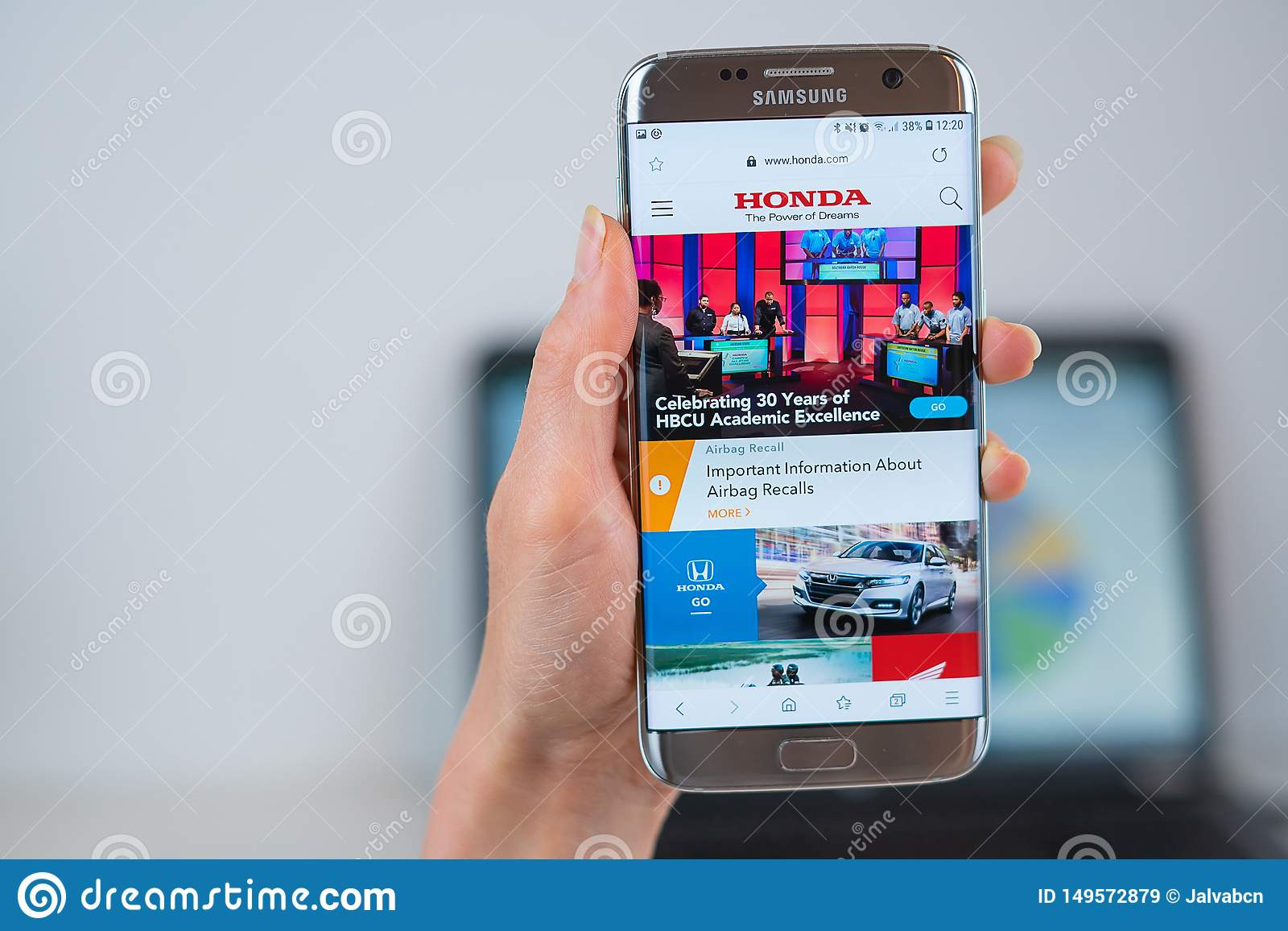 Honda Official Site >> Honda Web Site Opened On The Mobile Editorial Stock Image