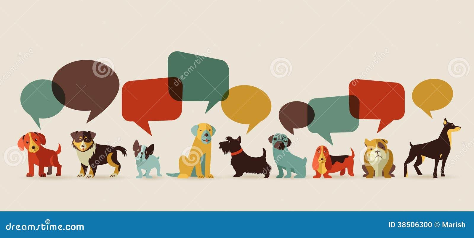 Honden die - pictogrammen en illustraties spreken