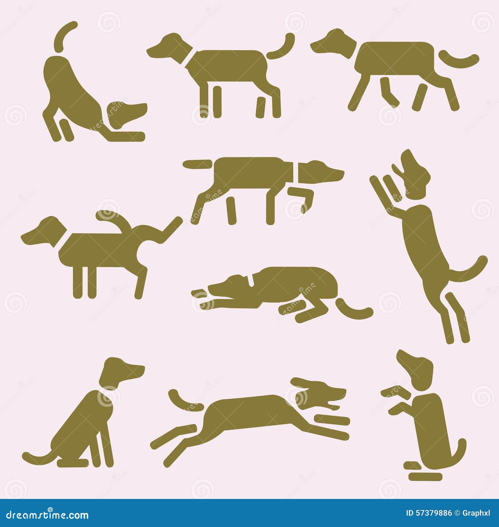 Hondpictogrammen of pictogrammen